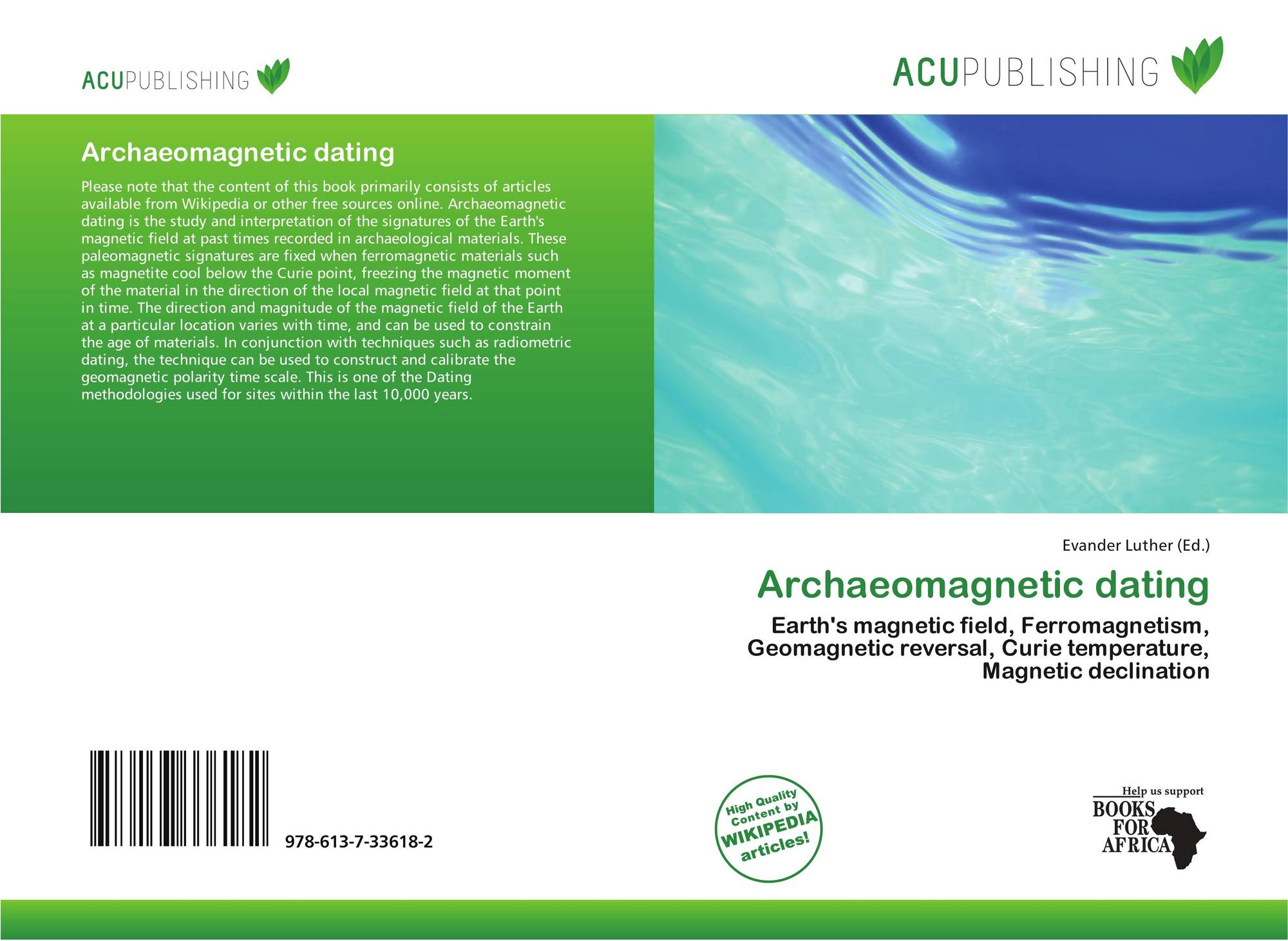 Archaeomagnetic dating, 978-613-7-33618-2, 6137336182