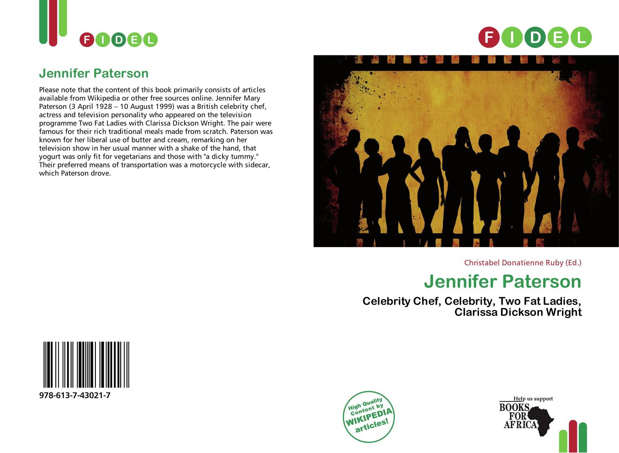 Bookcover Of Jennifer Paterson