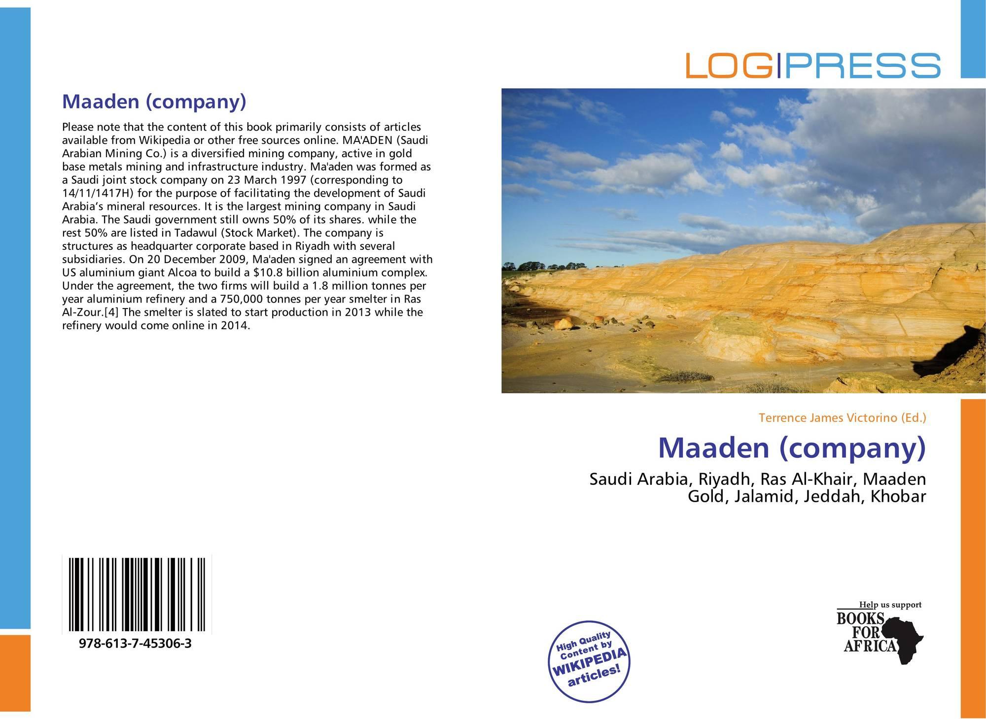 Maaden (company), 978-613-7-45306-3, 6137453065 ,9786137453063