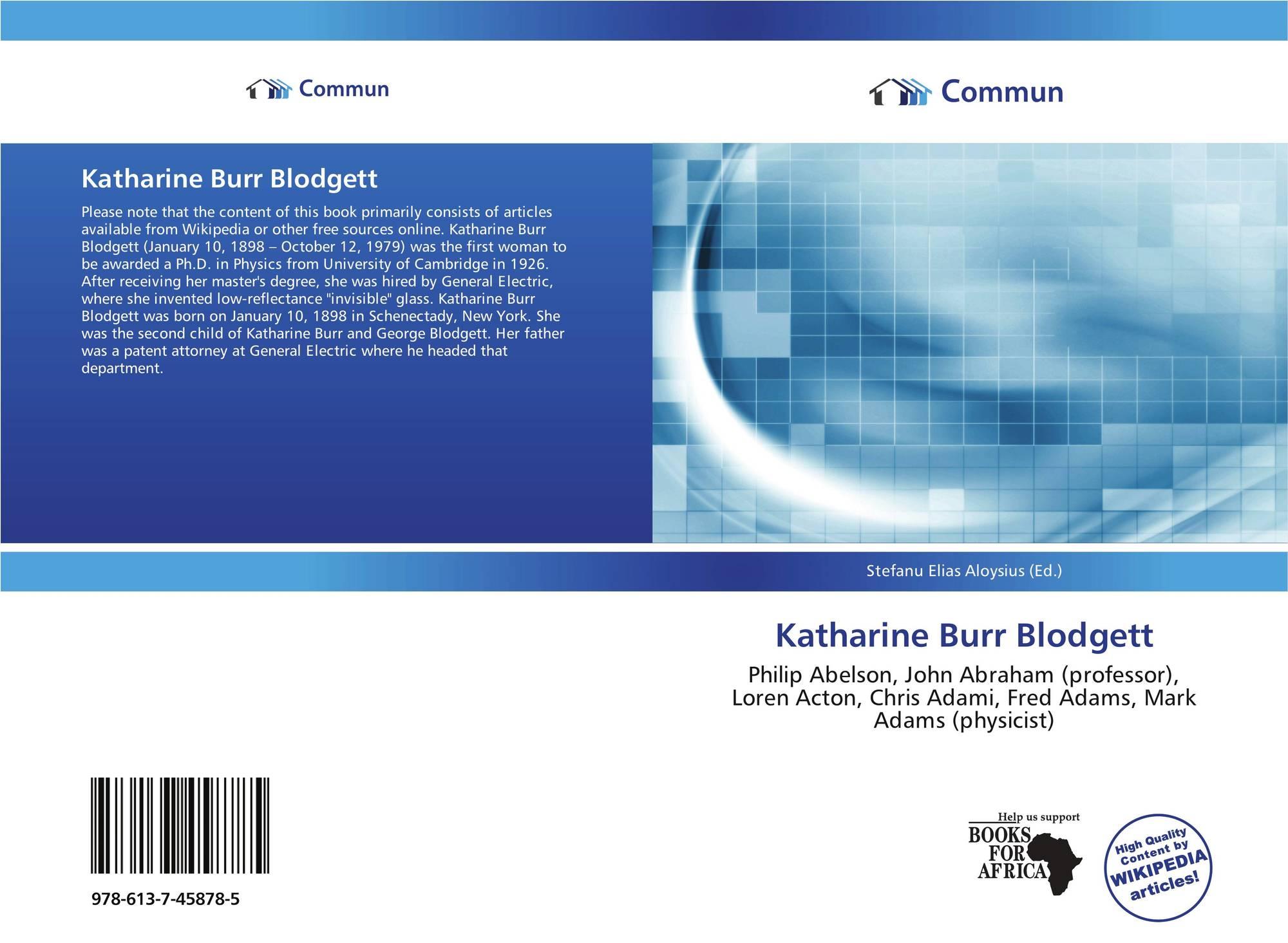 Katharine Burr Blodgett 9786137458785