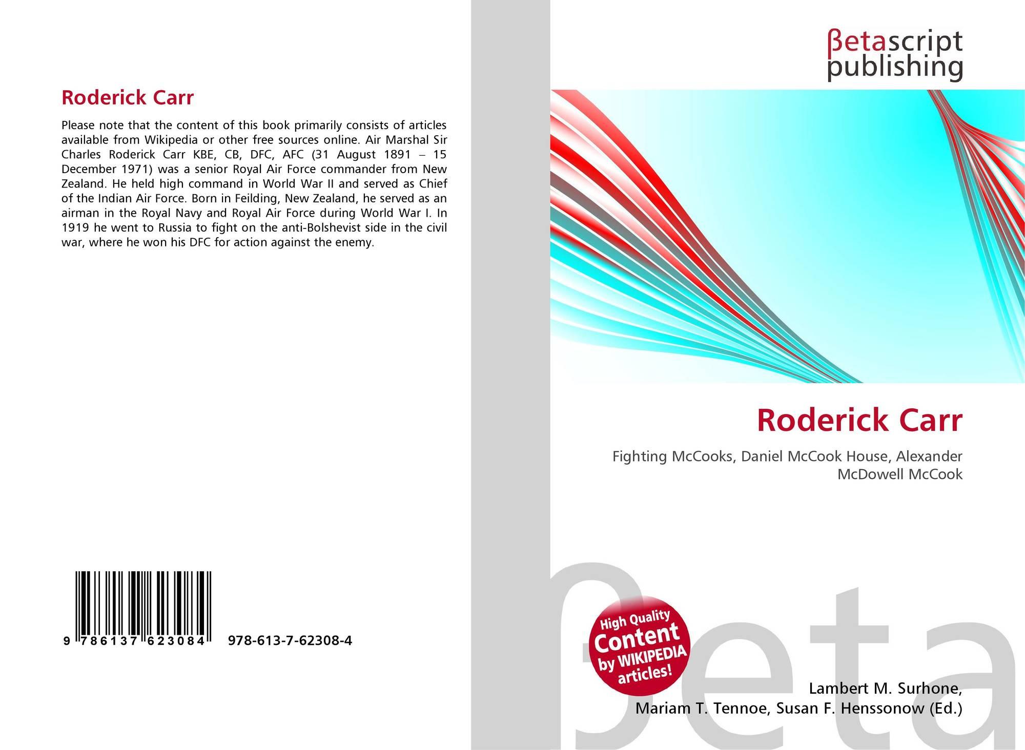 Roderick Carr, 978-613-7-62308-4, 6137623084 ,9786137623084