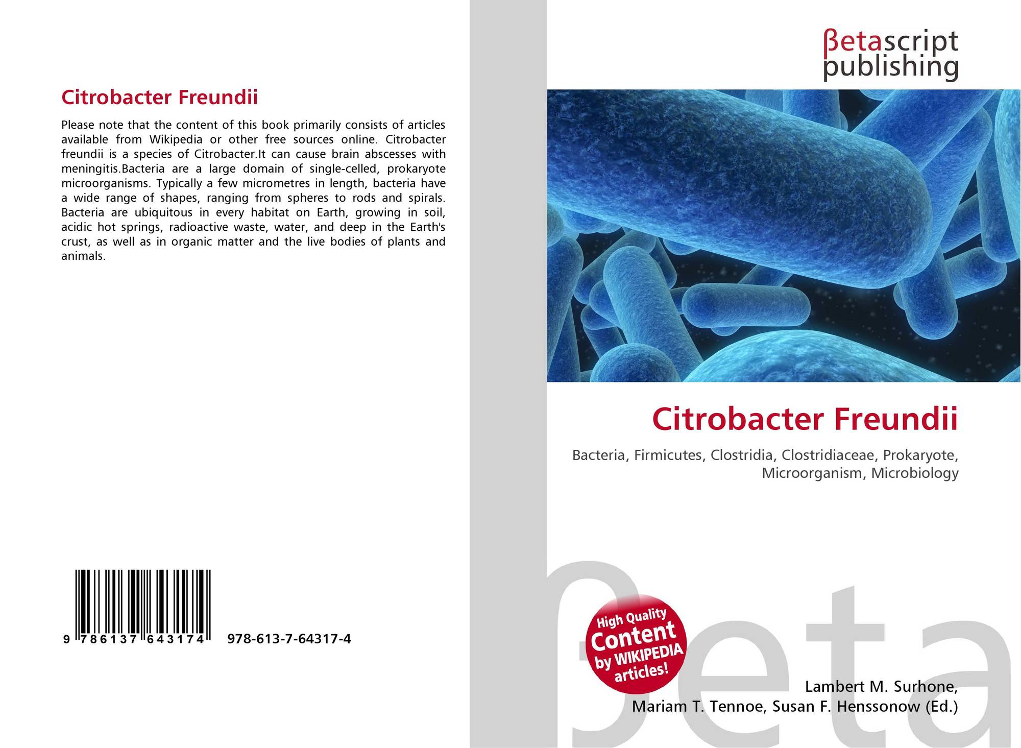 unknown lab report for citrobacter freundii Citrobacter freundii serratia marcescens morganella morganii bacillus subtilis which you will use to identify your unknown bacteria in this lab.