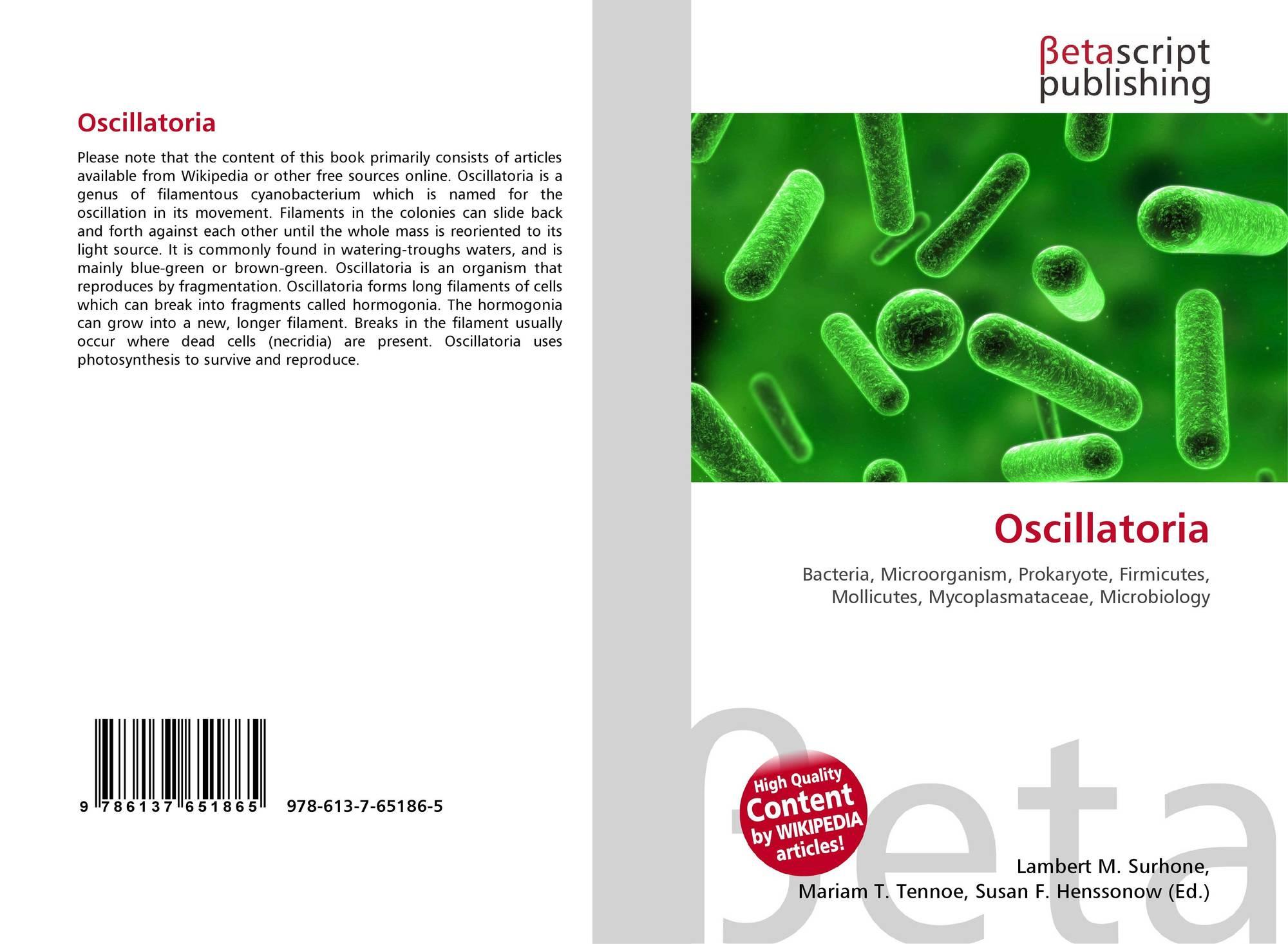 Oscillatoria, 978-613-7-65186-5, 613765186X ,9786137651865  Oscillatoria, 9...