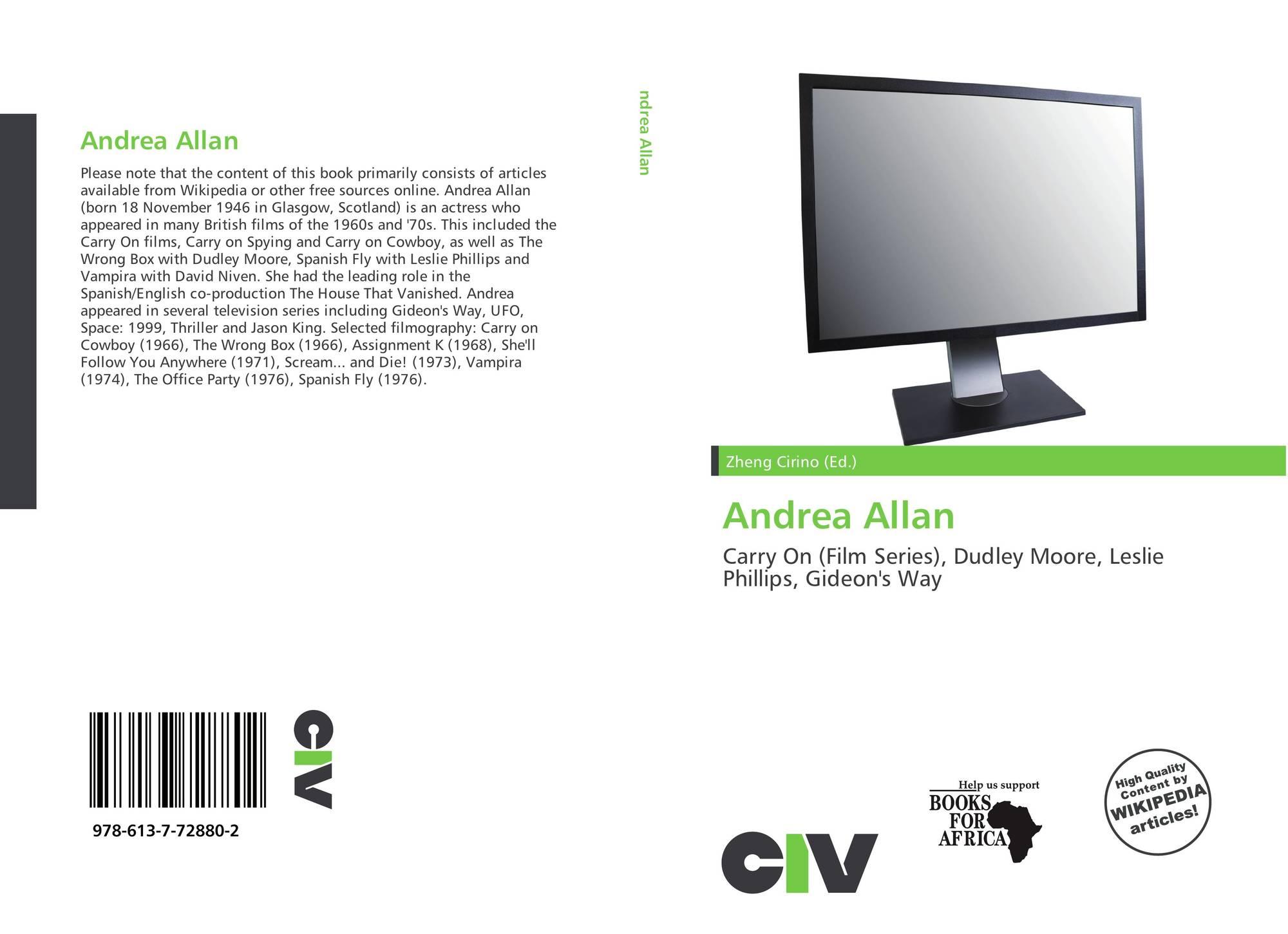 Andrea Allan andrea allan, 978-613-7-72880-2, 6137728803 ,9786137728802