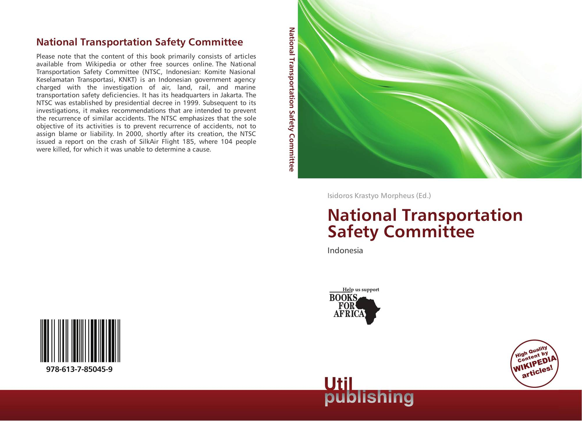 an analysis of the national transportation board Vandenbossche, j m performance analysis of ultrathin whitetopping intersections on us-169, elk river, minnesota in transportation research record: journal of the.