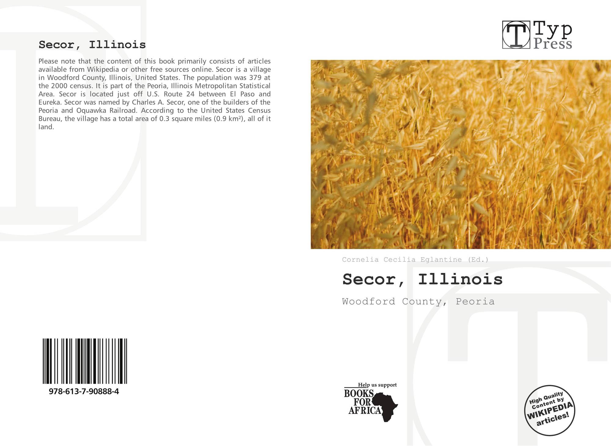 Illinois woodford county secor - Bookcover Of Secor Illinois