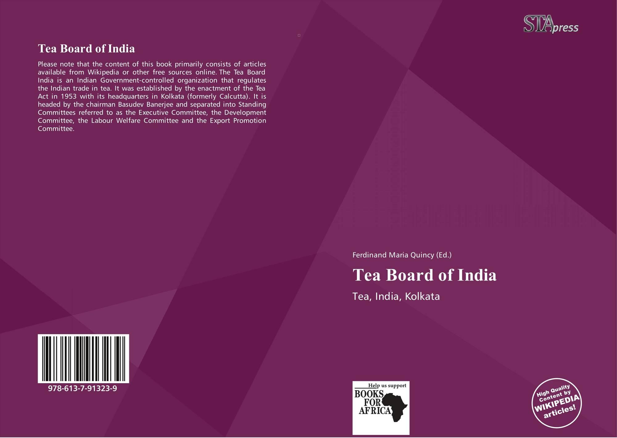 Tea Board of India, 978-613-7-91323-9, 6137913236 ,9786137913239