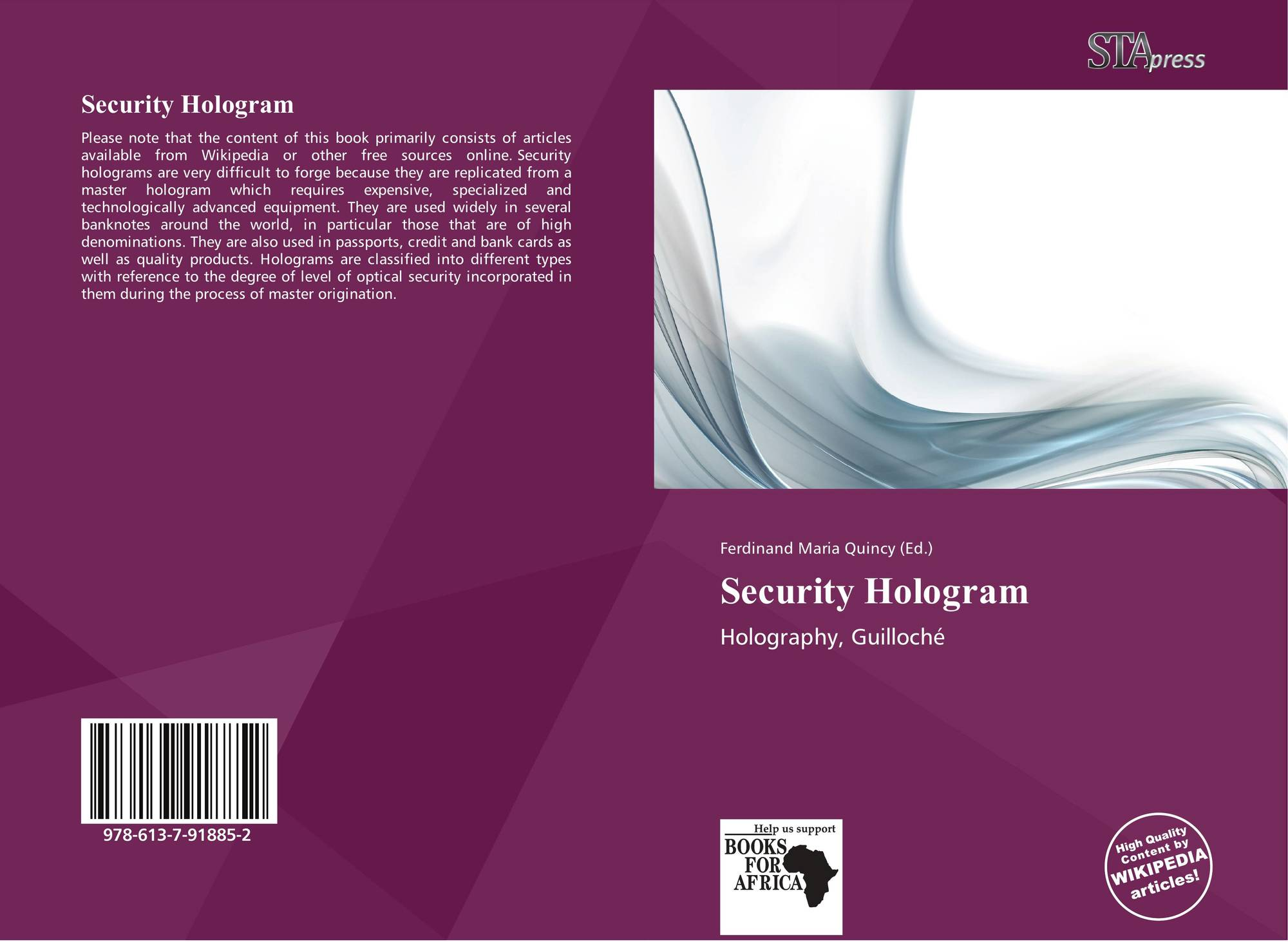 Security Hologram, 978-613-7-91885-2, 6137918858 ,9786137918852