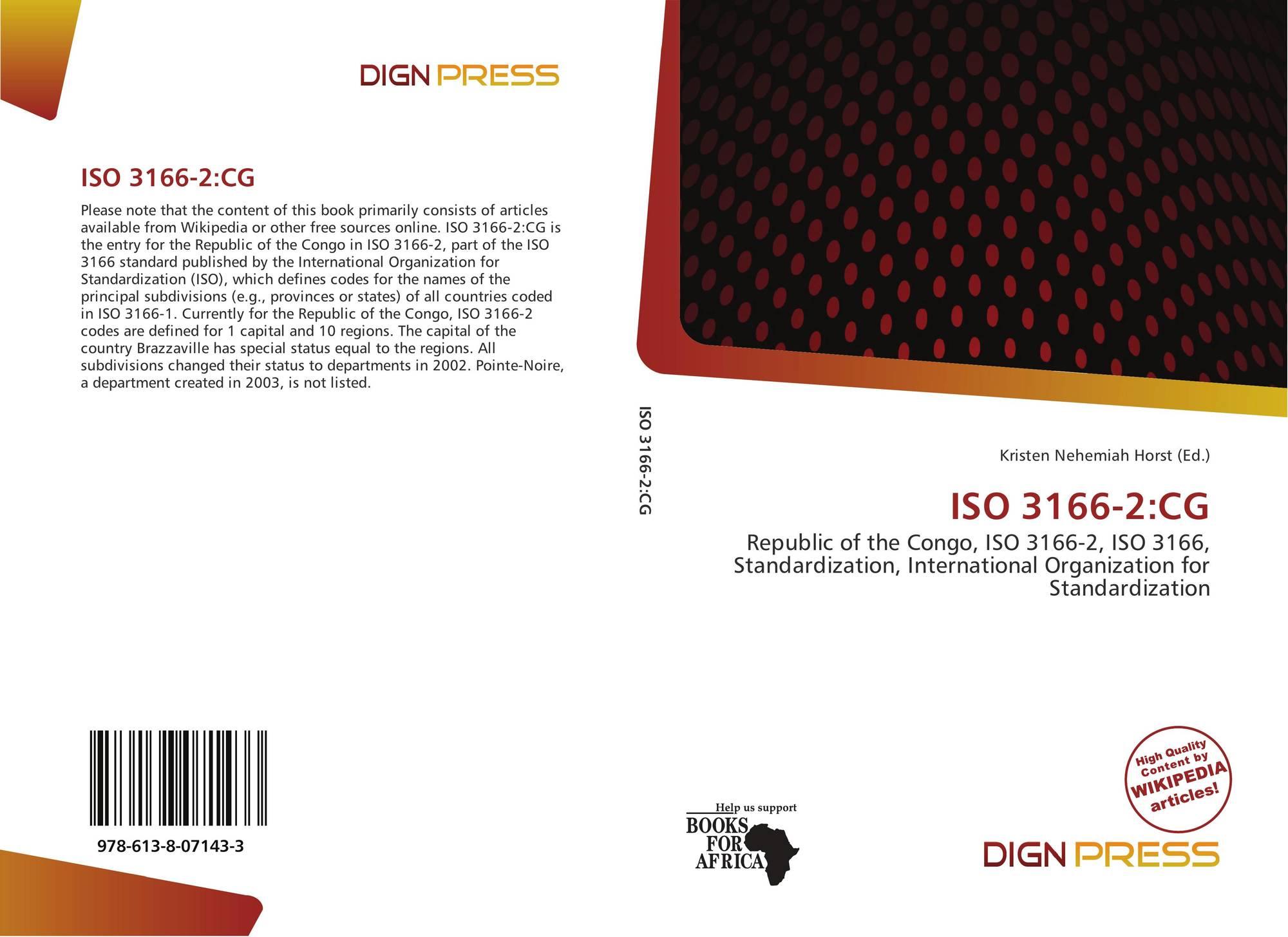 ISO 3166-2:CG, 978-613-8-07143-3, 6138071433 ,9786138071433