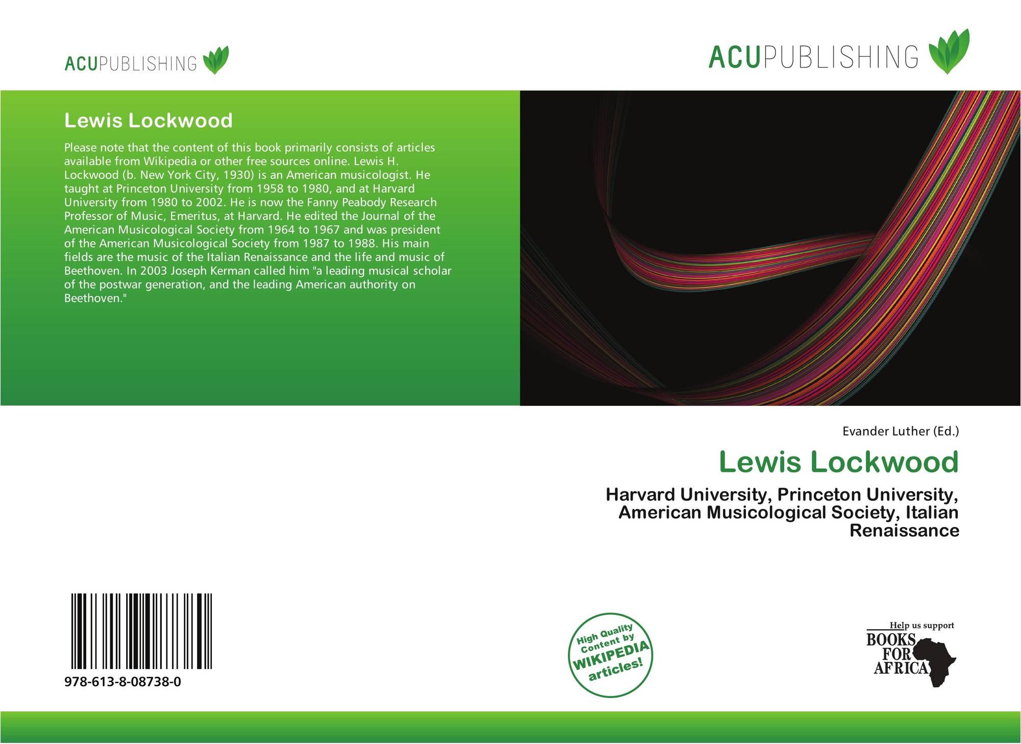 Lewis Lockwood, 978-613-8-08738-0, 6138087380 ,9786138087380