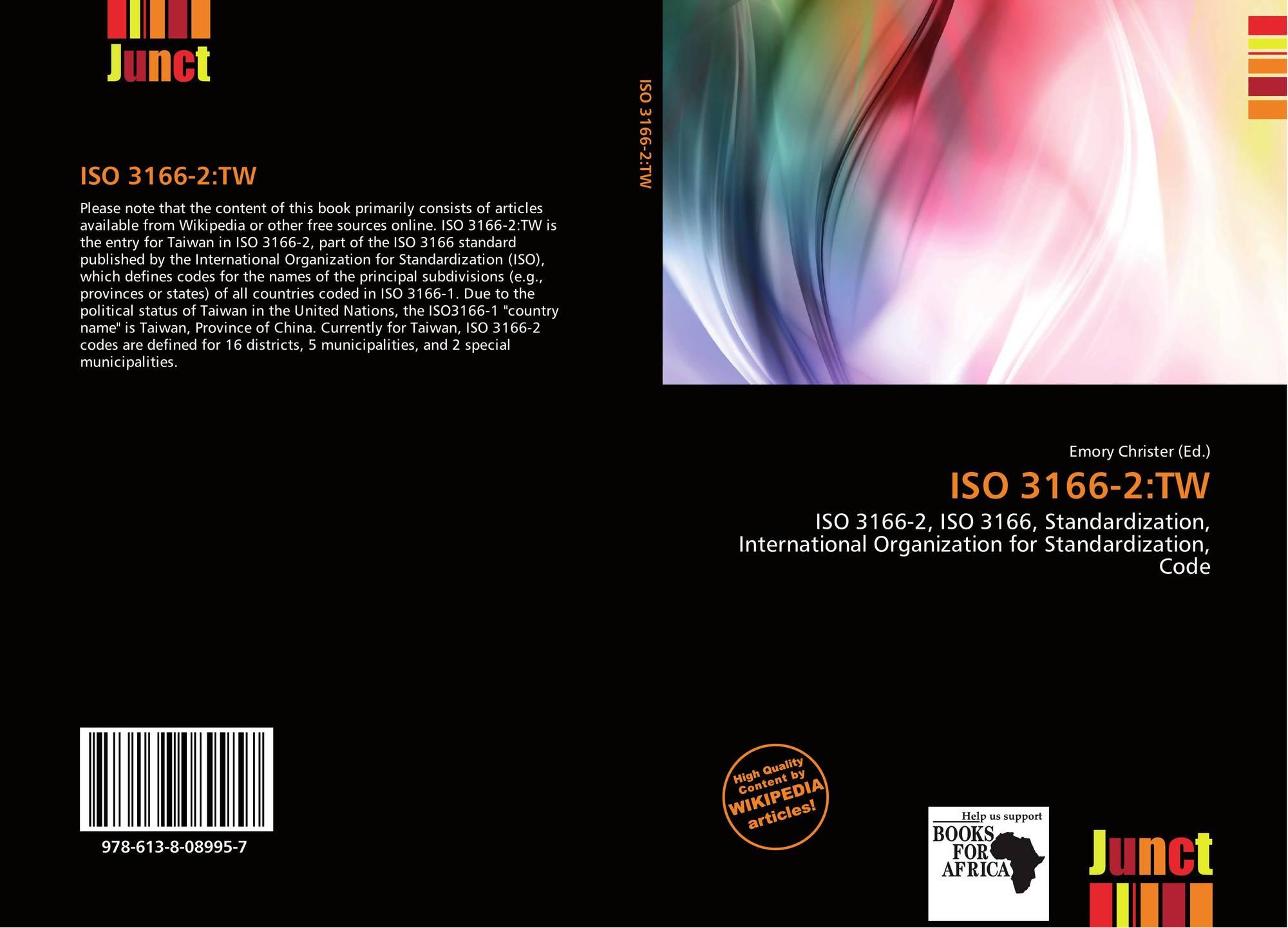 ISO 3166-2:TW, 978-613-8-08995-7, 6138089952 ,9786138089957