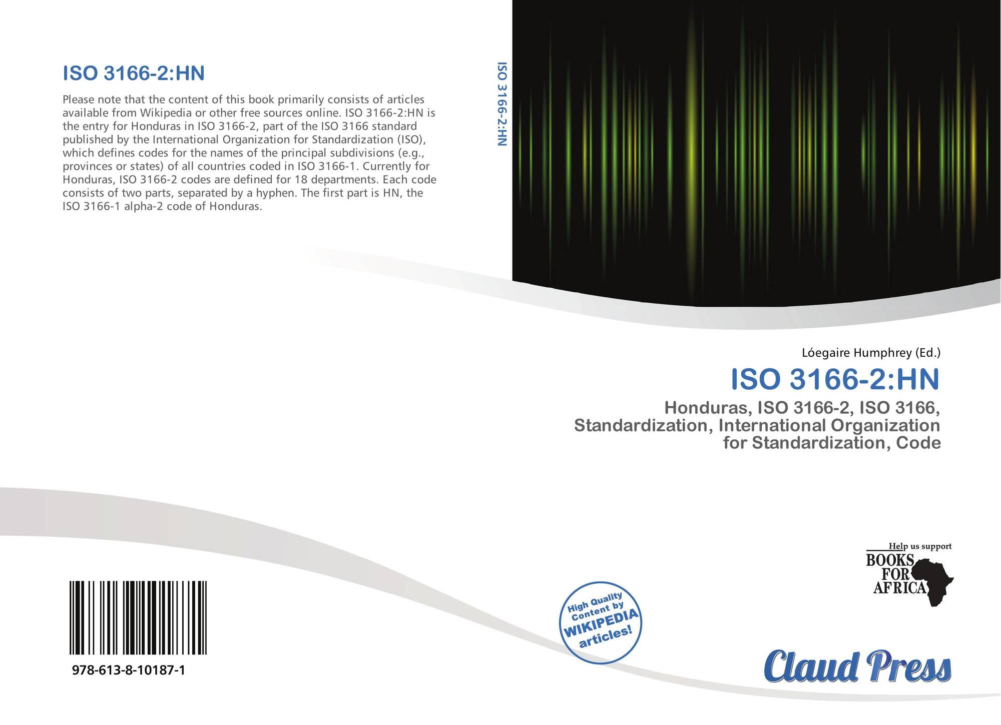 ISO 3166-2:HN, 978-613-8-10187...