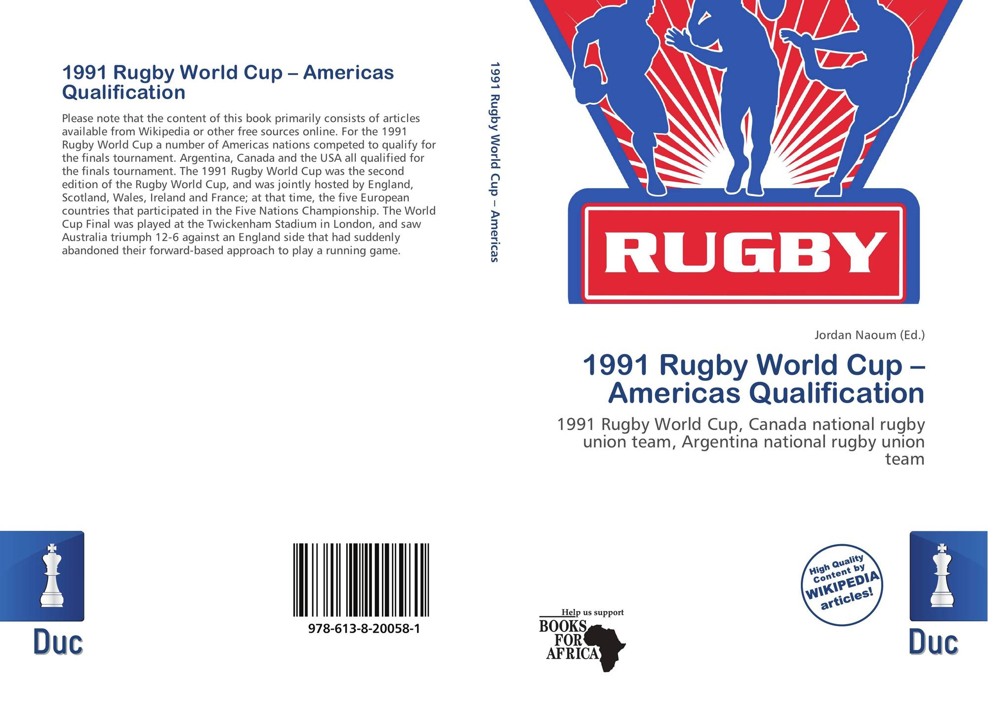 Bookcover Of 1991 Rugby World Cup Americas Qualification 9786138200581
