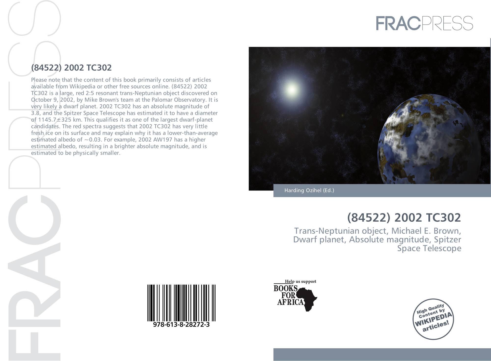 84522) 2002 TC302, 978-613-8-28272-3, 6138282728 ,9786138282723