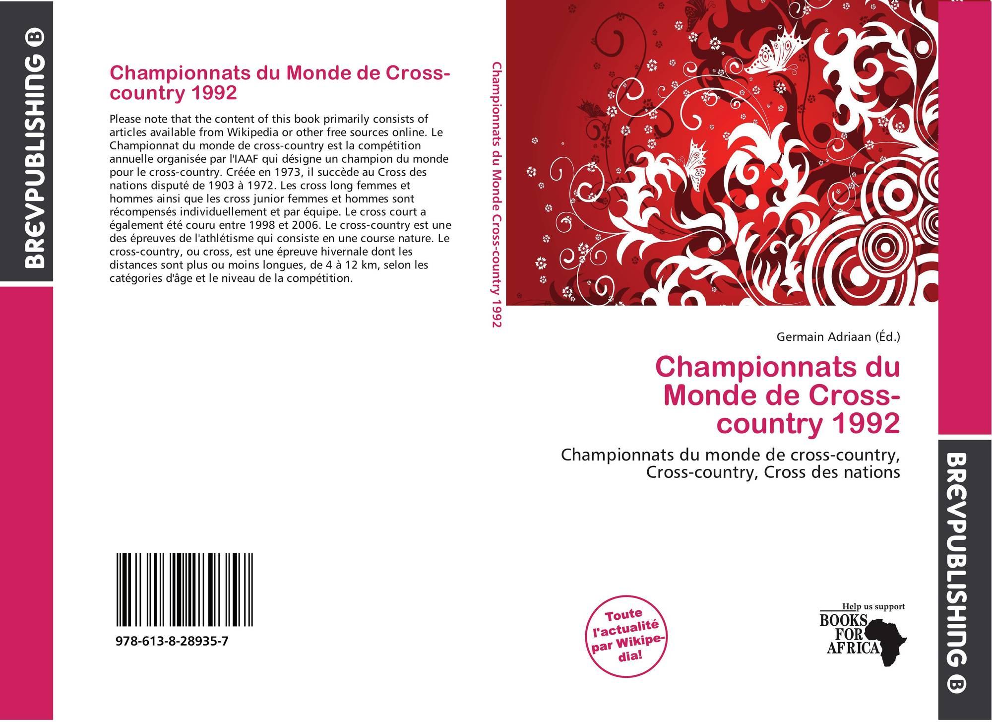 Championnats du monde de cross country 1992 978 613 8 for Championnat du monde de boules carrees