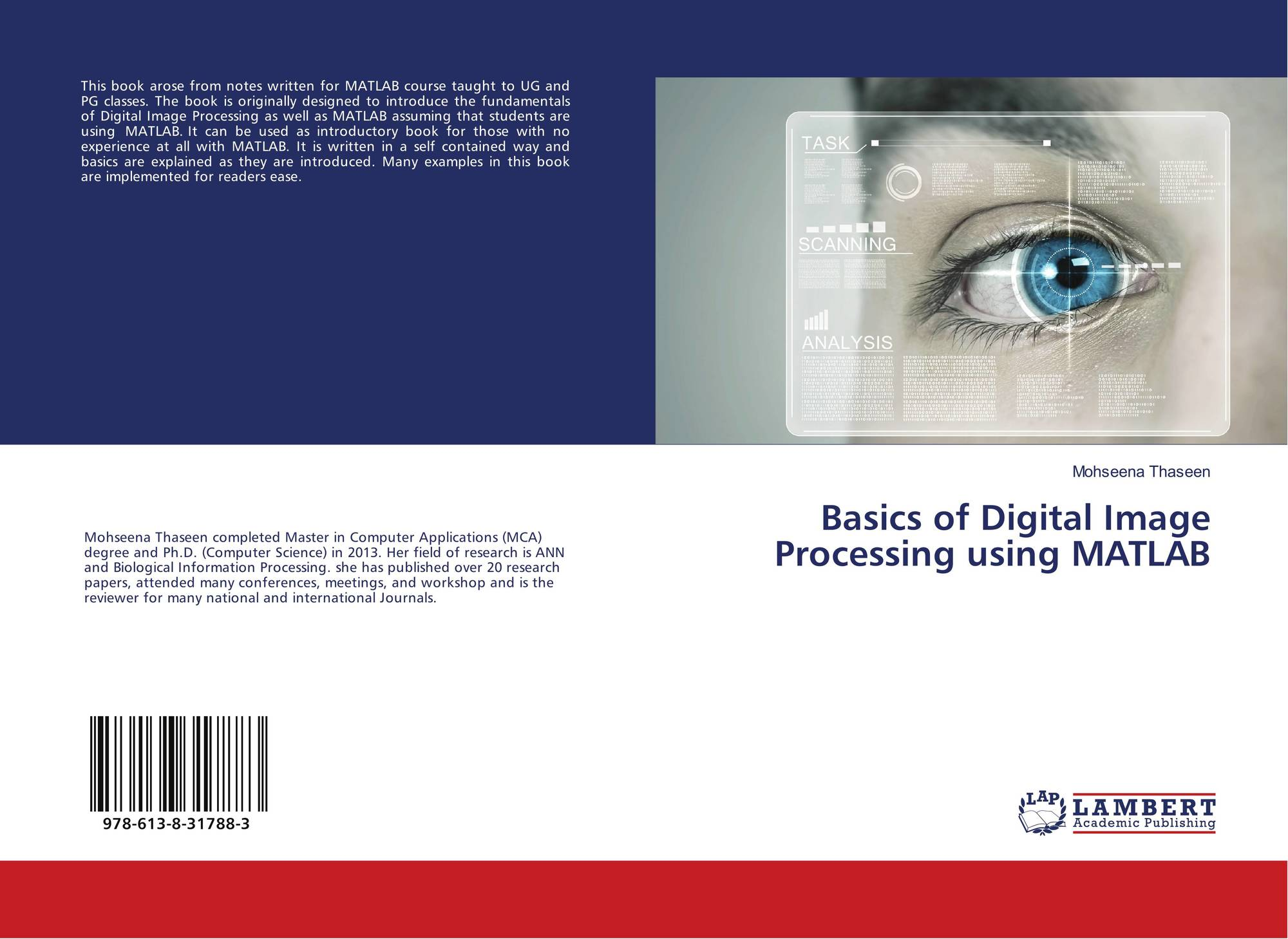 Basics of Digital Image Processing using MATLAB, 978-613-8