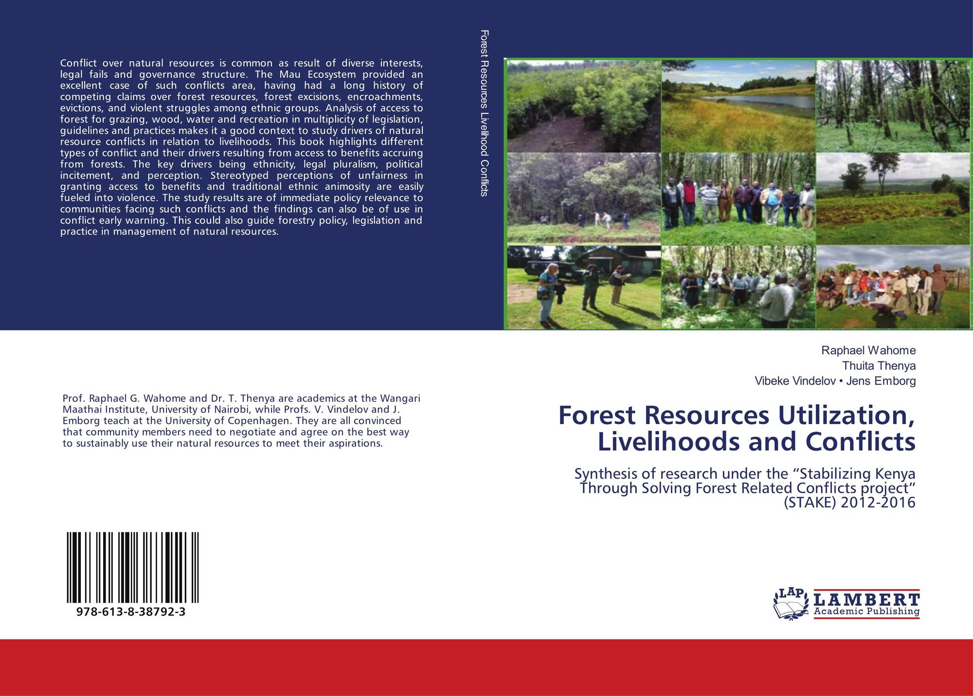 Forest Resources Utilization, Livelihoods and Conflicts, 978