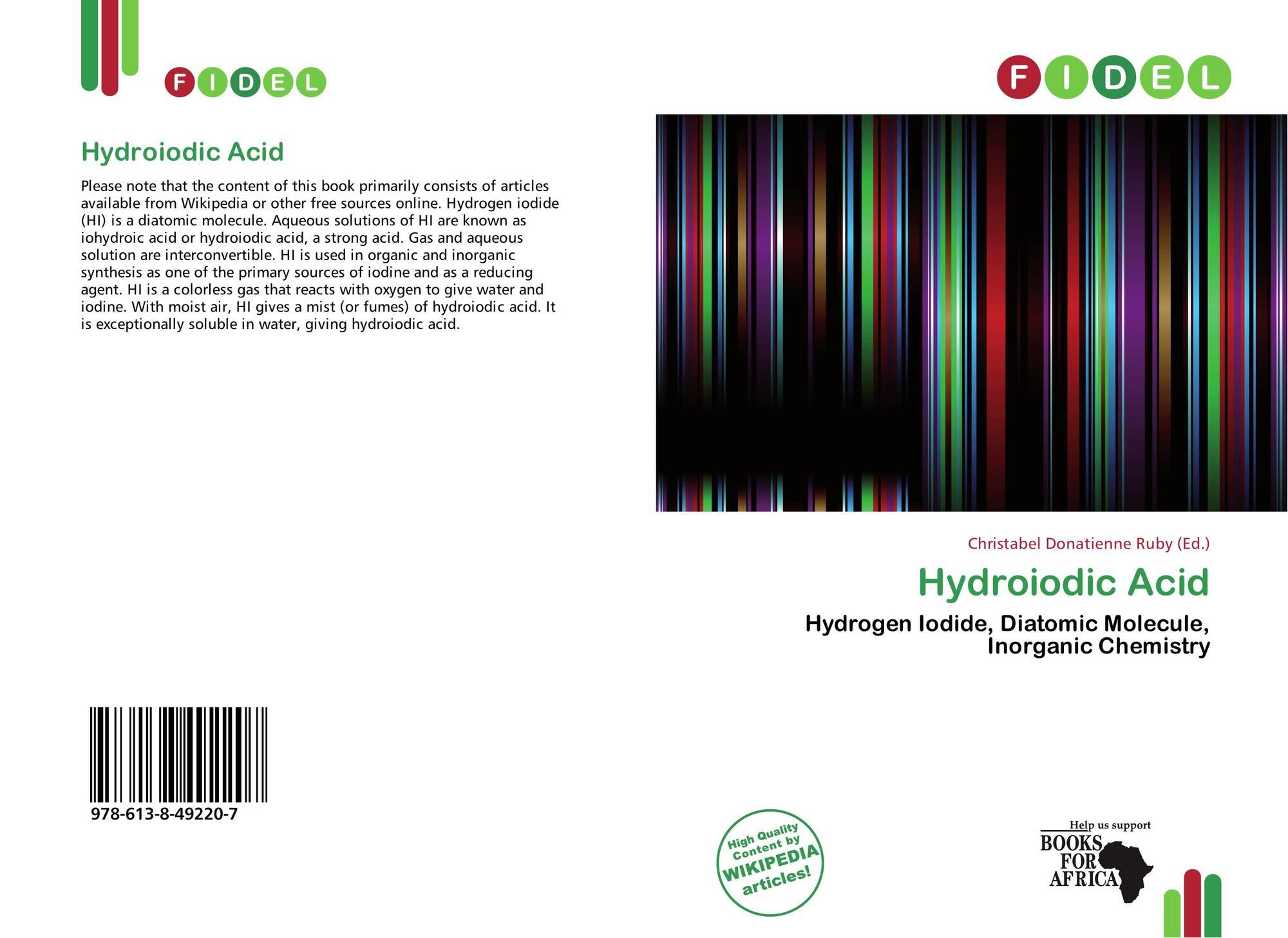 Hydroiodic Acid, 978-613-8-49220-7, 613849220X ,9786138492207