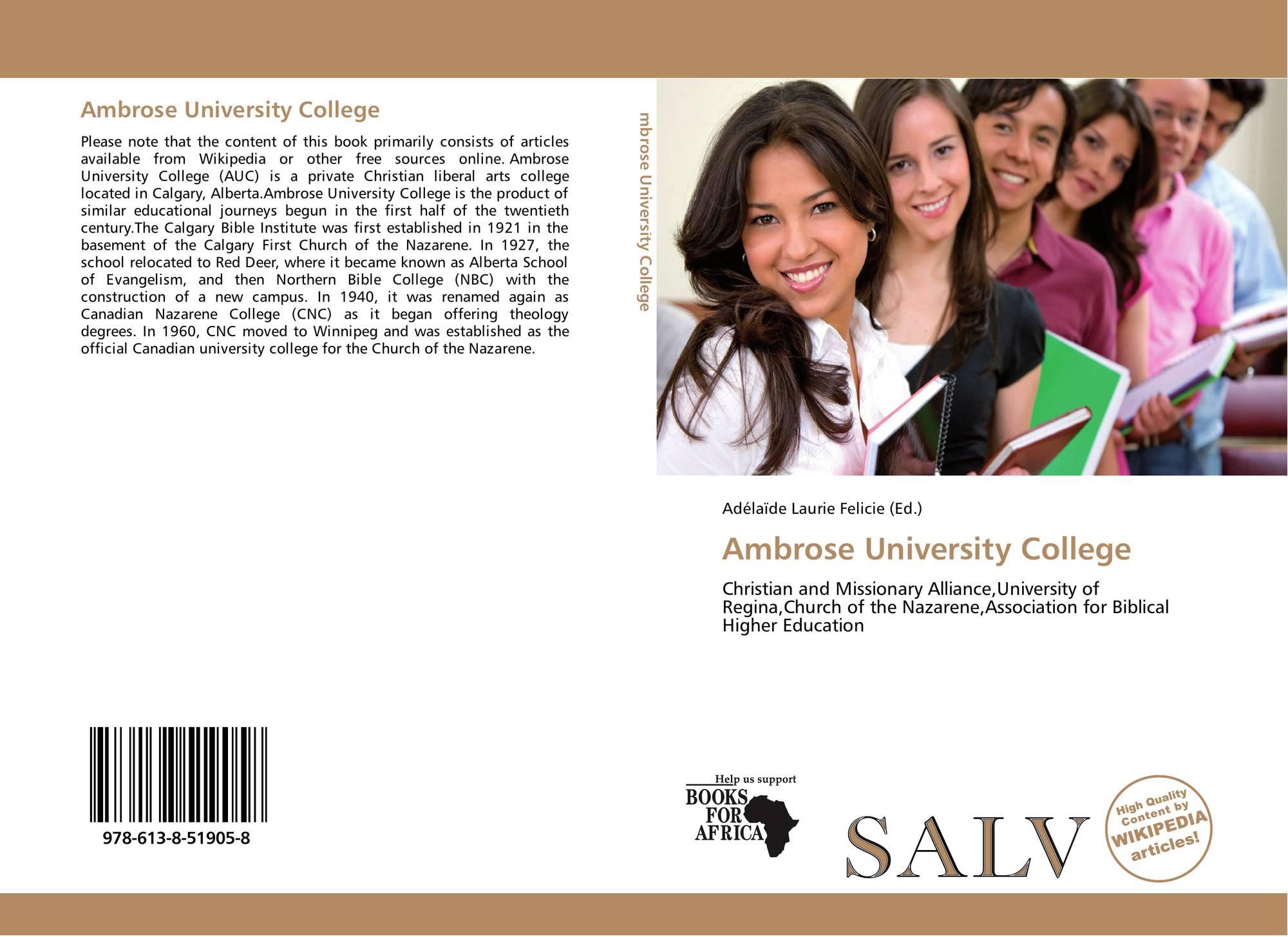 Ambrose University College, 978-613-8-51905-8, 6138519051