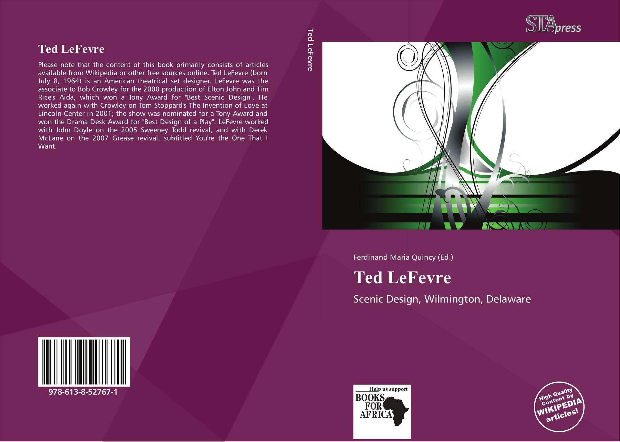 Ted Lefevre 978 613 8 52767 1 6138527674 9786138527671