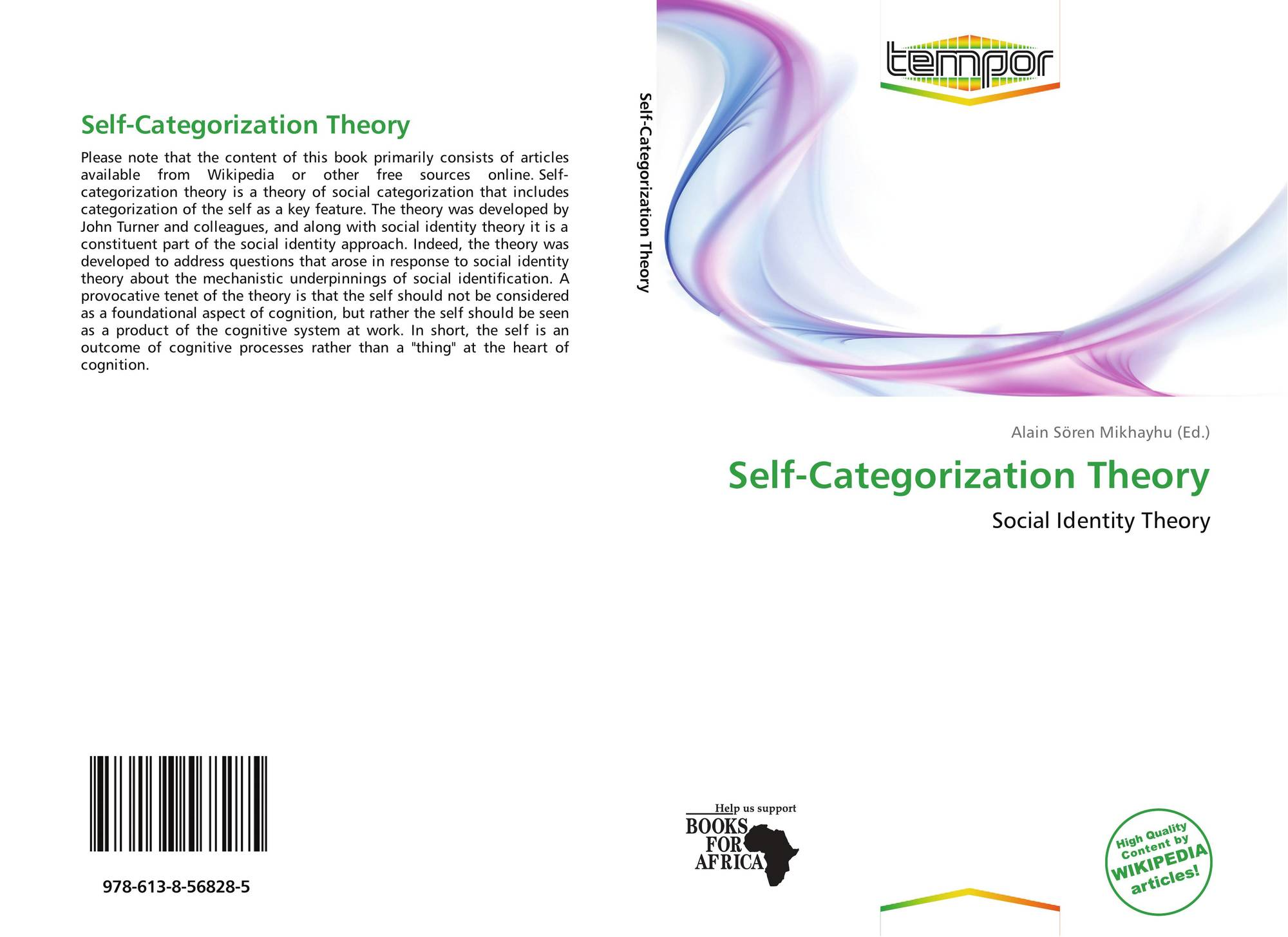 social categorisation and social construction theories Social identity theory seen as a it is also the aim of this essay to explain what is meant by the term social construction and social categorisation and how.