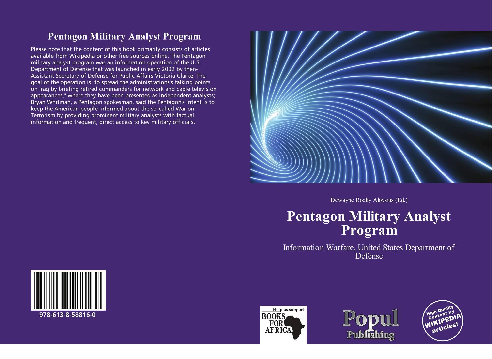 Pentagon Military Analyst Program, 978-613-8-58816-0, 6138588169 ...