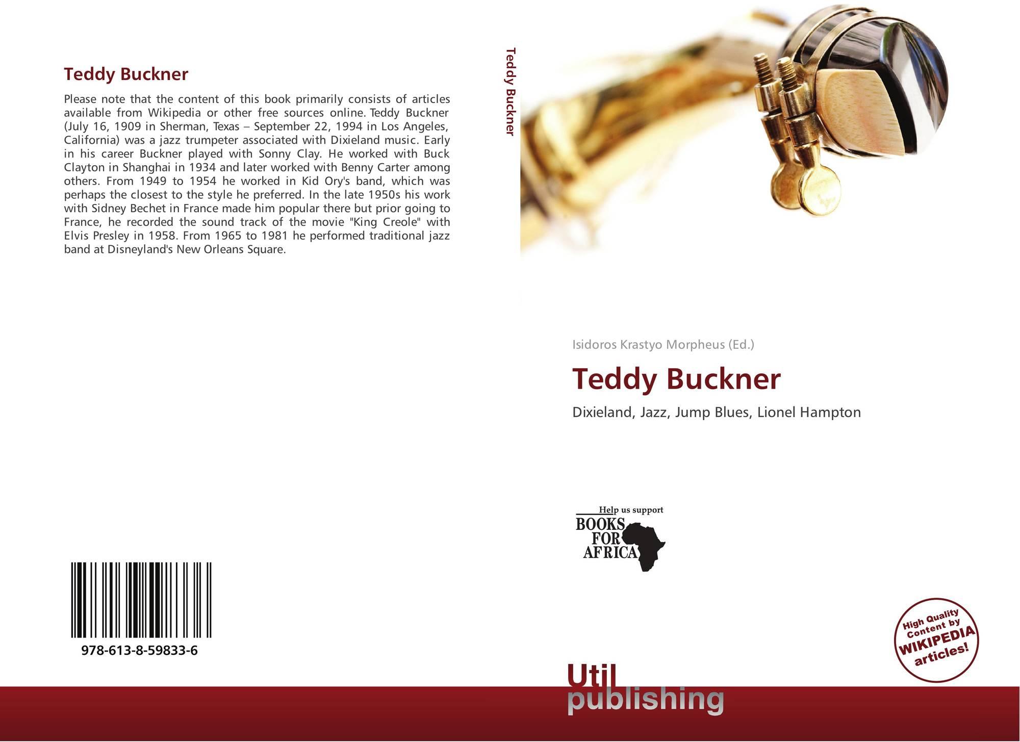 Amber Clayton Wikipedia teddy buckner, 978-613-8-59833-6, 6138598334 ,9786138598336