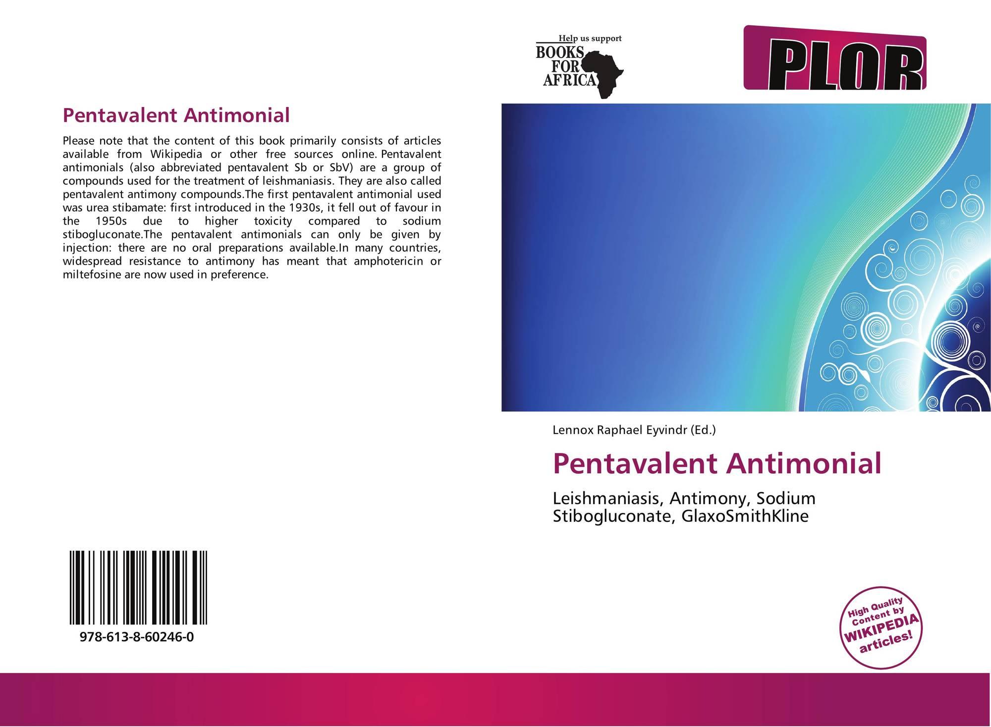 Pentavalent Antimonial, 978-613-8-60246-0, 6138602463