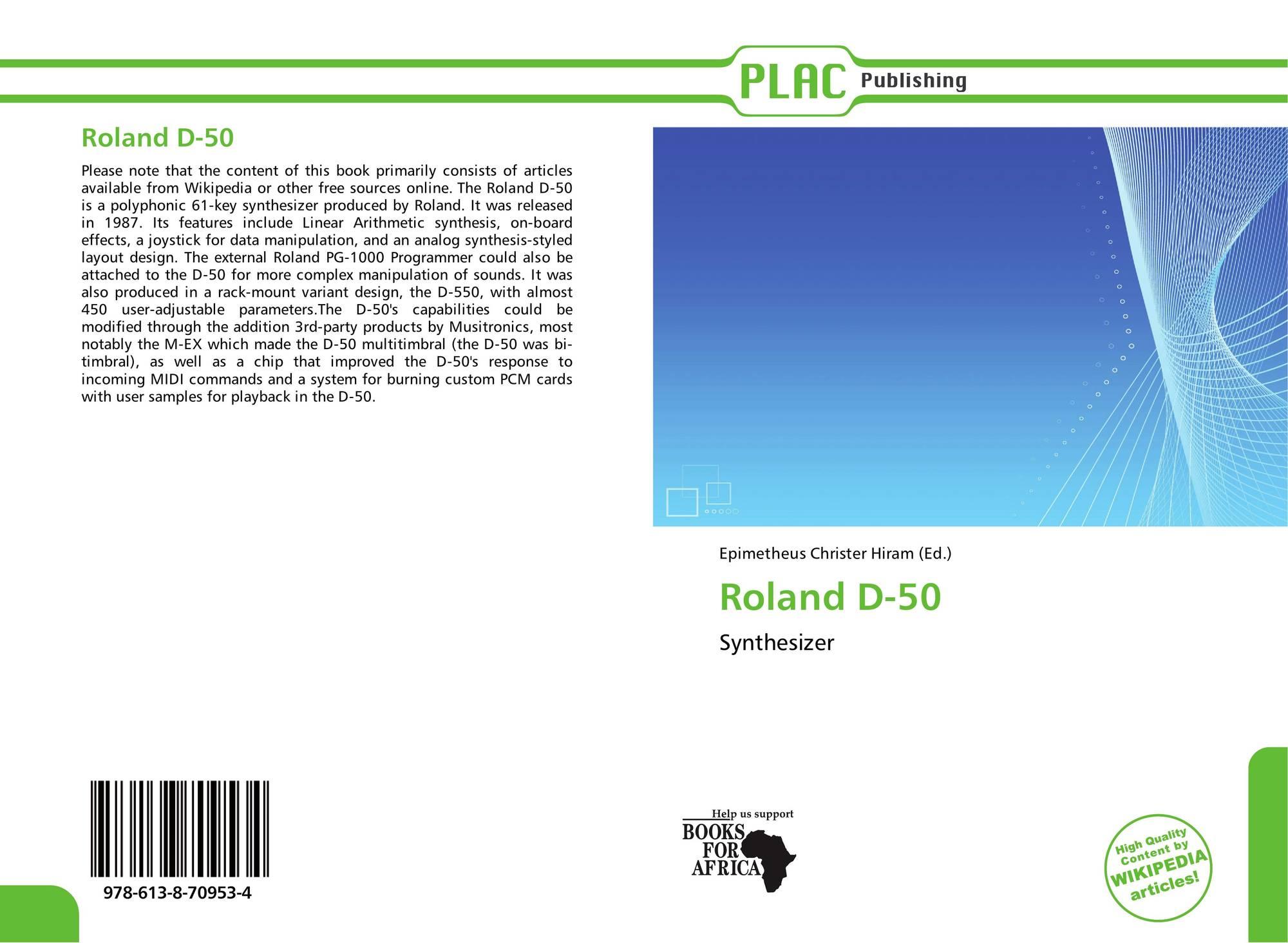 Roland D-50, 978-613-8-70953-4, 6138709535 ,9786138709534