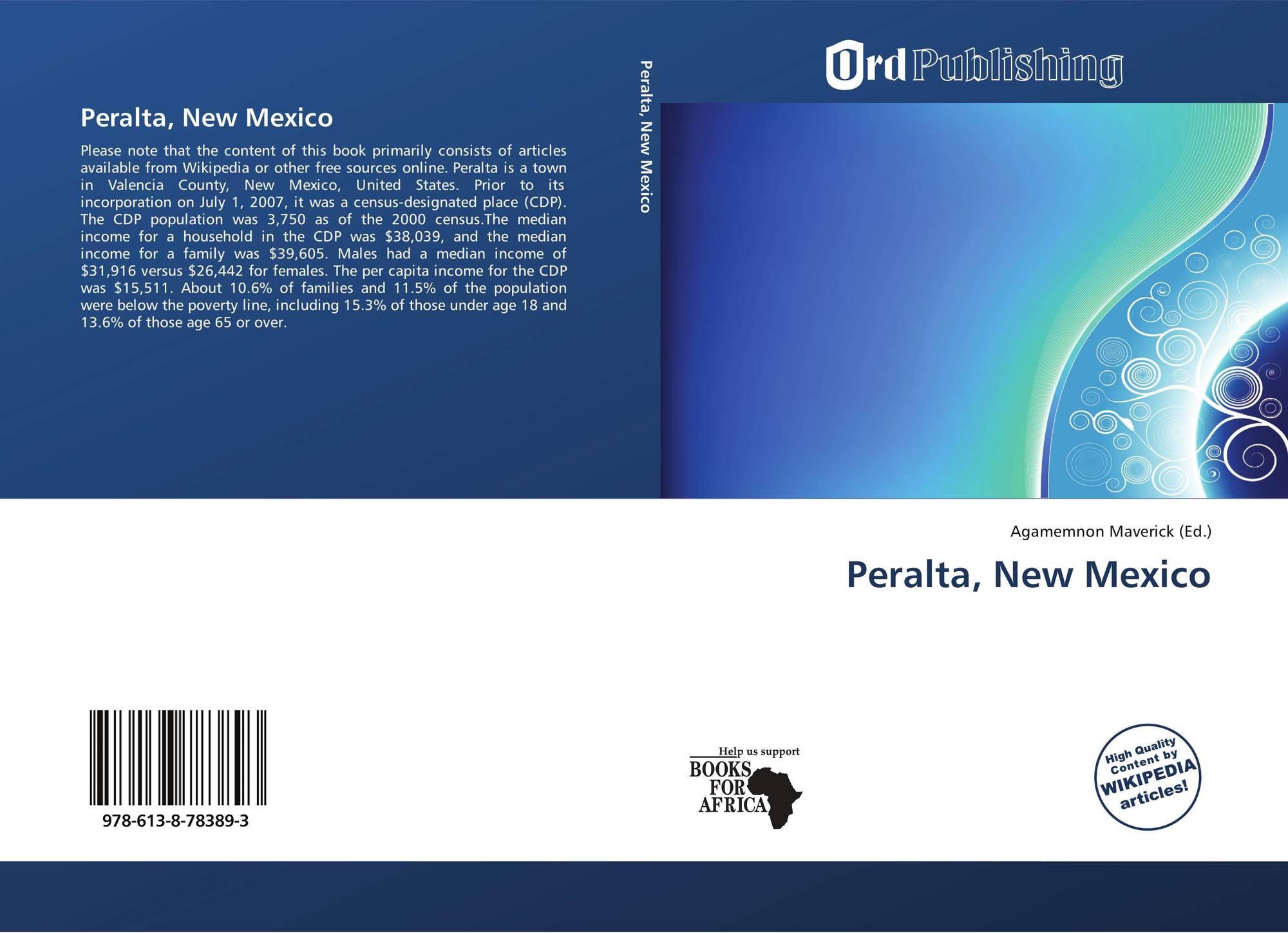 Peralta New Mexico 978 613 8 78389 3 6138783891 9786138783893
