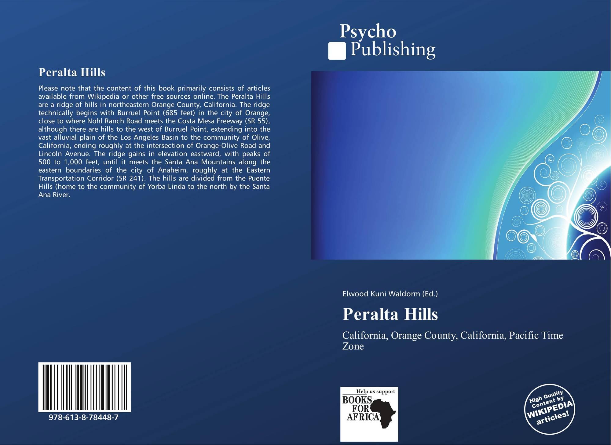 Bookcover Of Peralta Hills