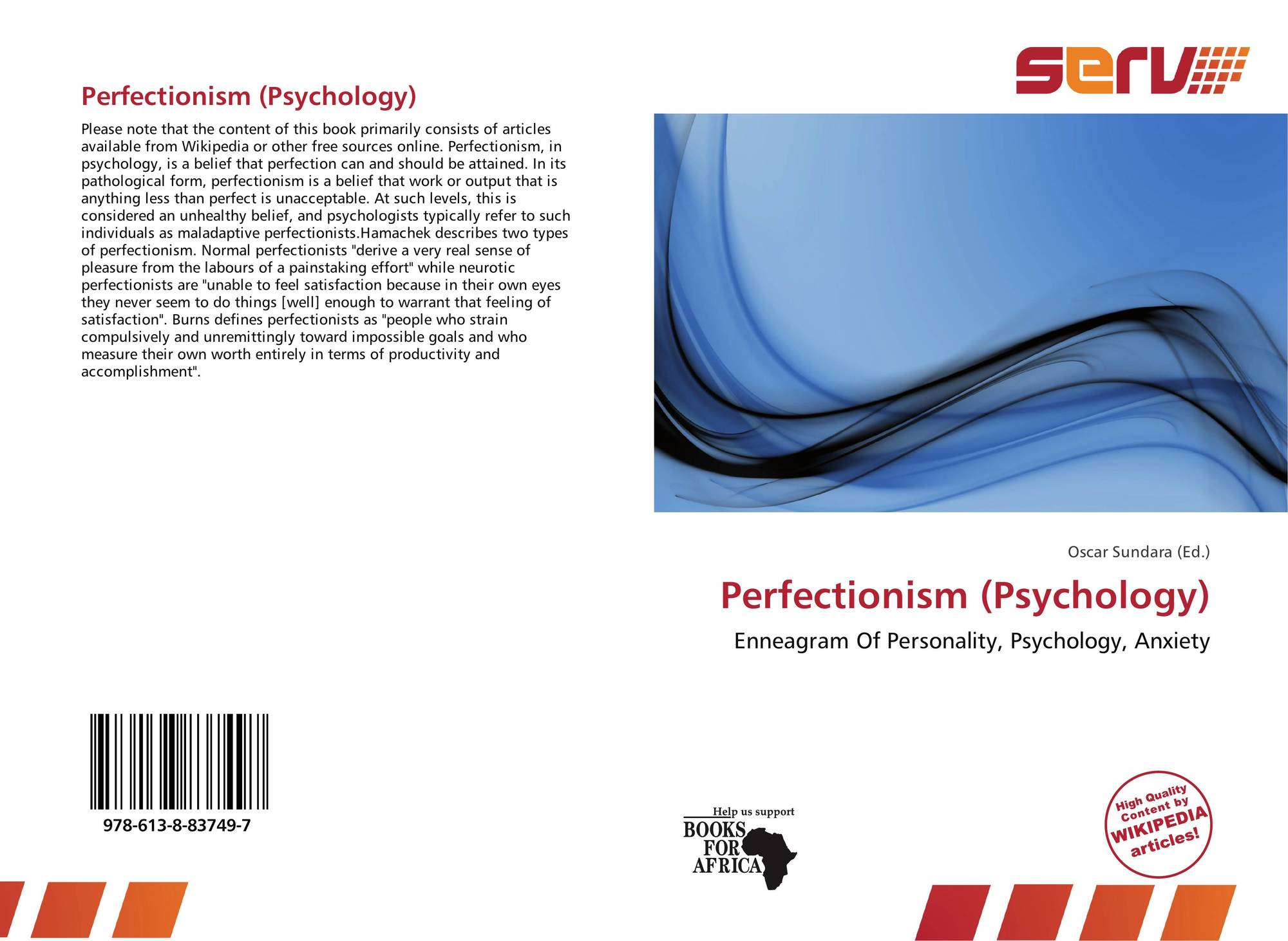 bookcover of perfectionism psychology