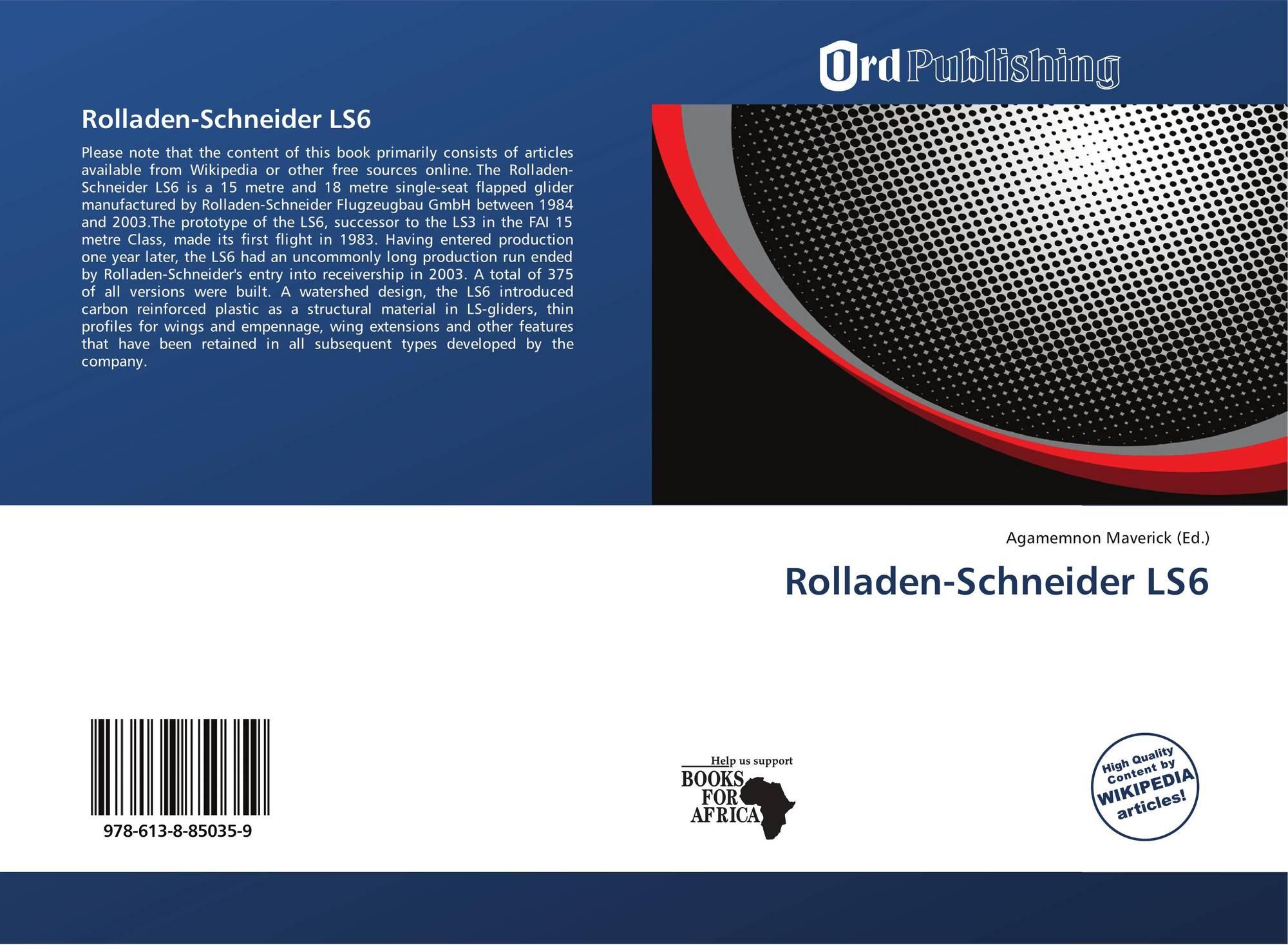 rolladen schneider ls6 978 613 8 85035 9 6138850351. Black Bedroom Furniture Sets. Home Design Ideas