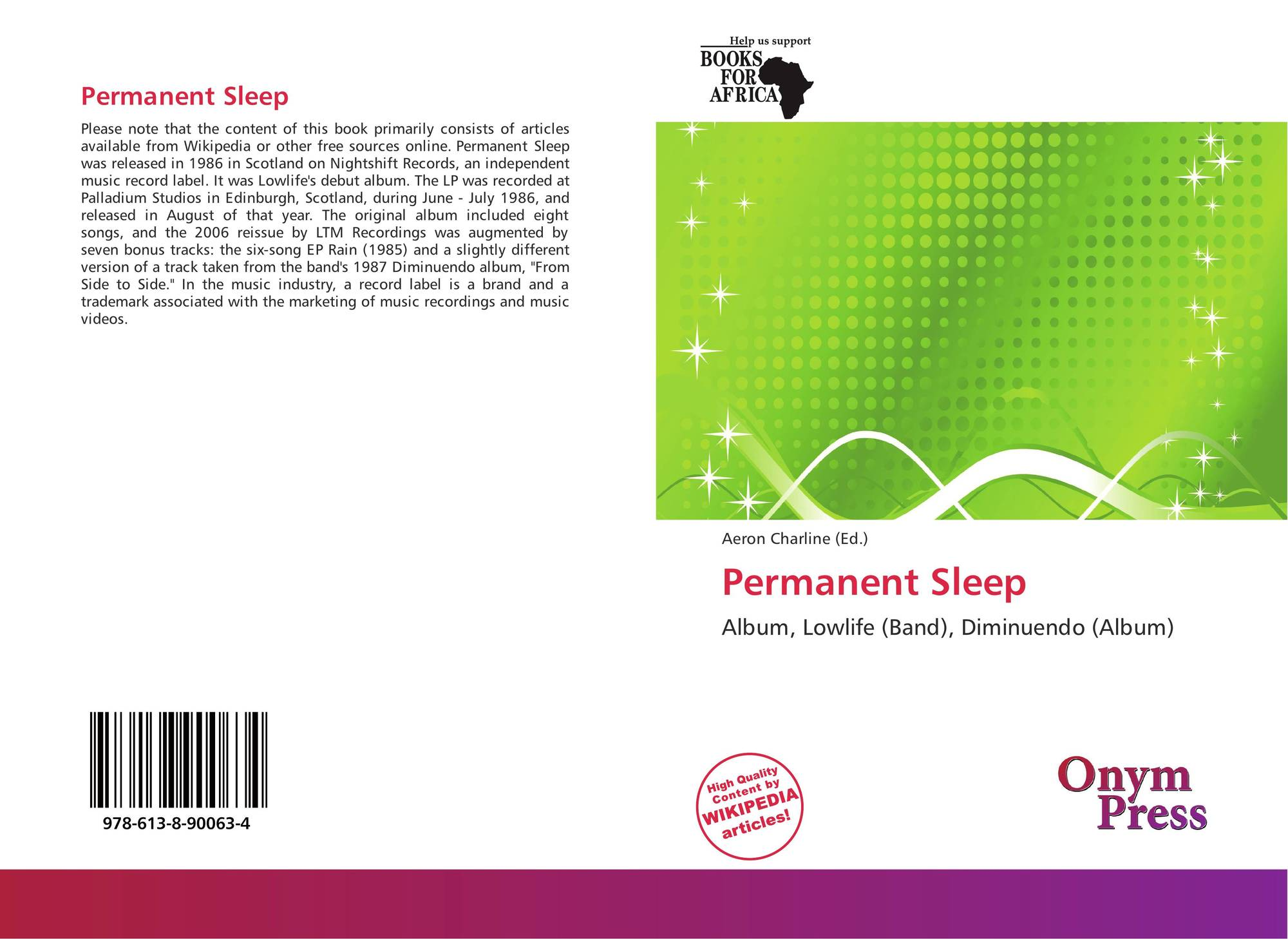 Permanent Sleep, 978-613-8-90063-4, 6138900634 ,9786138900634