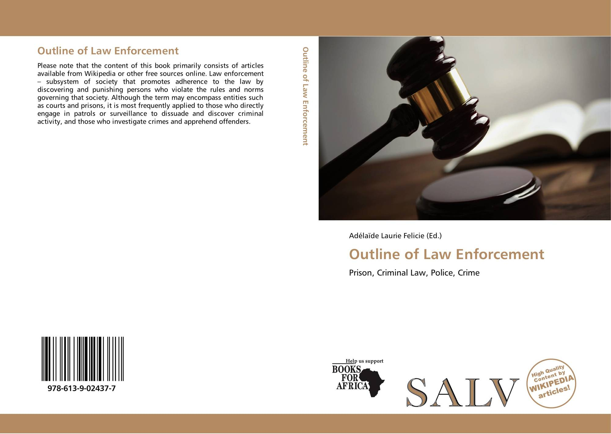outline of law enforcement This manual is an informational outline of federal law covering specific security situations as set forth in the federal regulations drug enforcement administration dea is the lead federal law enforcement agency responsible for enforcing the controlled substances act (csa).