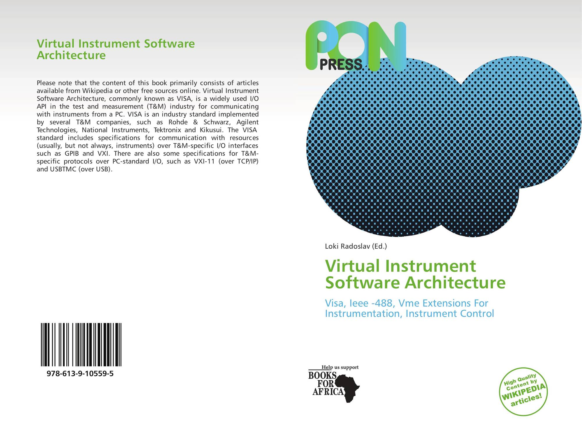 Virtual Instrument Software Architecture, 978-613-9-10559-5