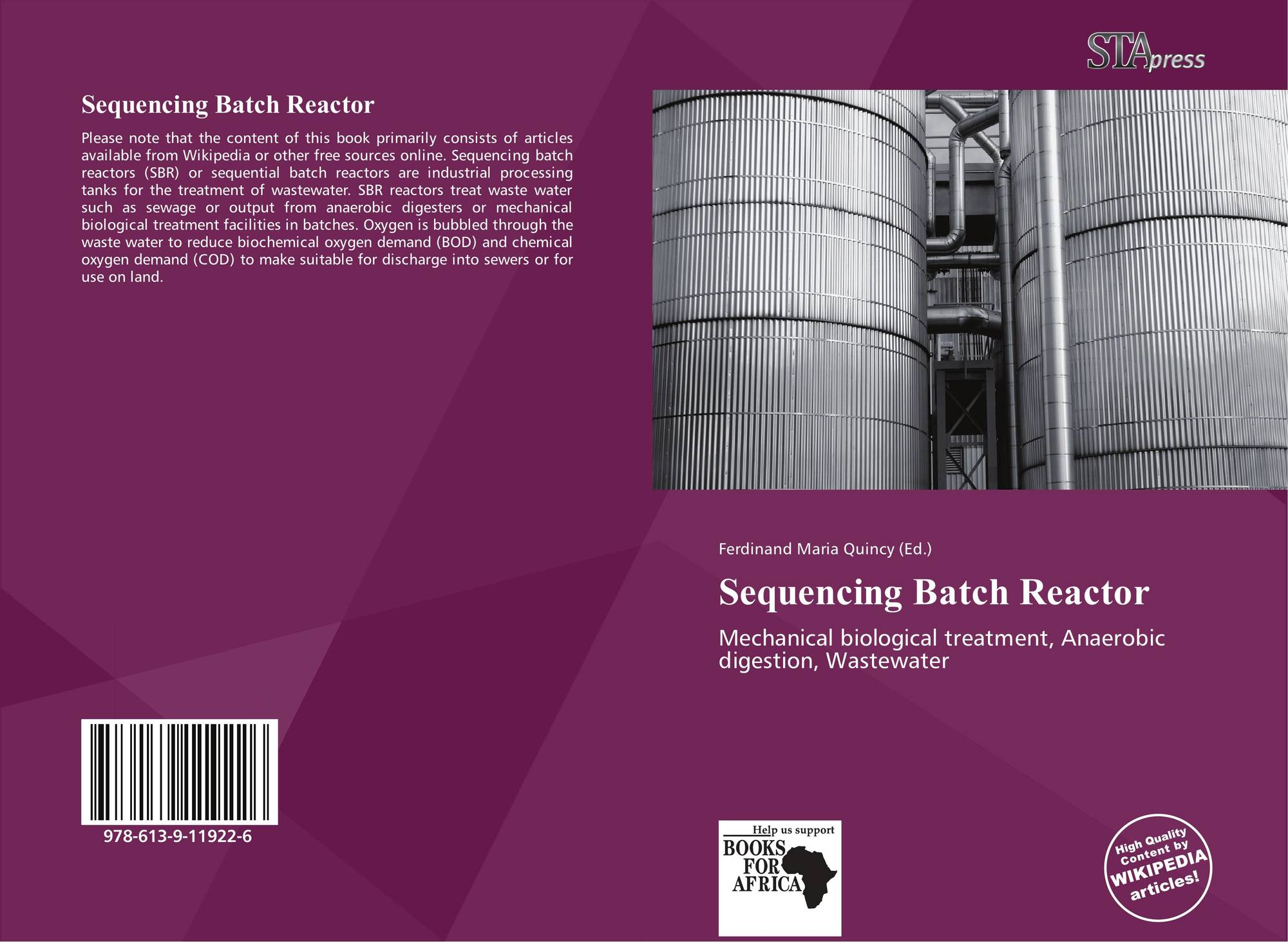 sequencing batch reactor The batch reactor is the generic term for a type of vessel widely used in the process industriesits name is something of a misnomer since vessels of this type are used for a variety of process operations such as solids dissolution, product mixing, chemical reactions, batch distillation, crystallization, liquid/liquid extraction and polymerization.