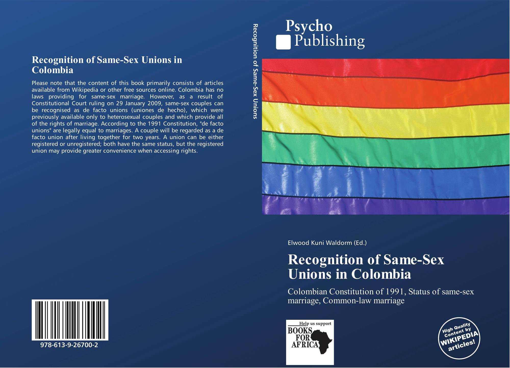 Обложка Recognition of Same-Sex Unions in Colombia.