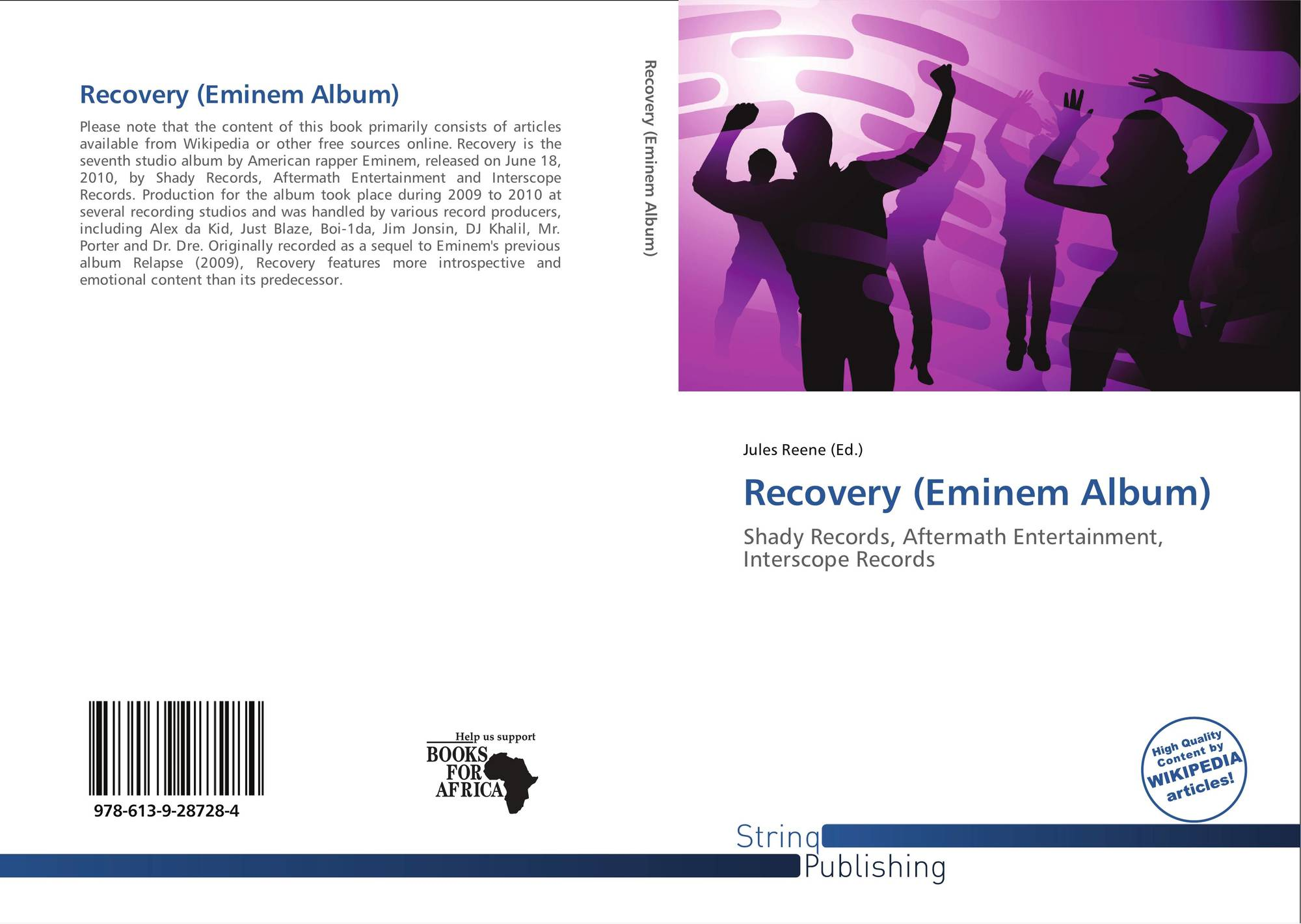 Recovery (Eminem Album), 978-613-9-28728-4, 6139287286