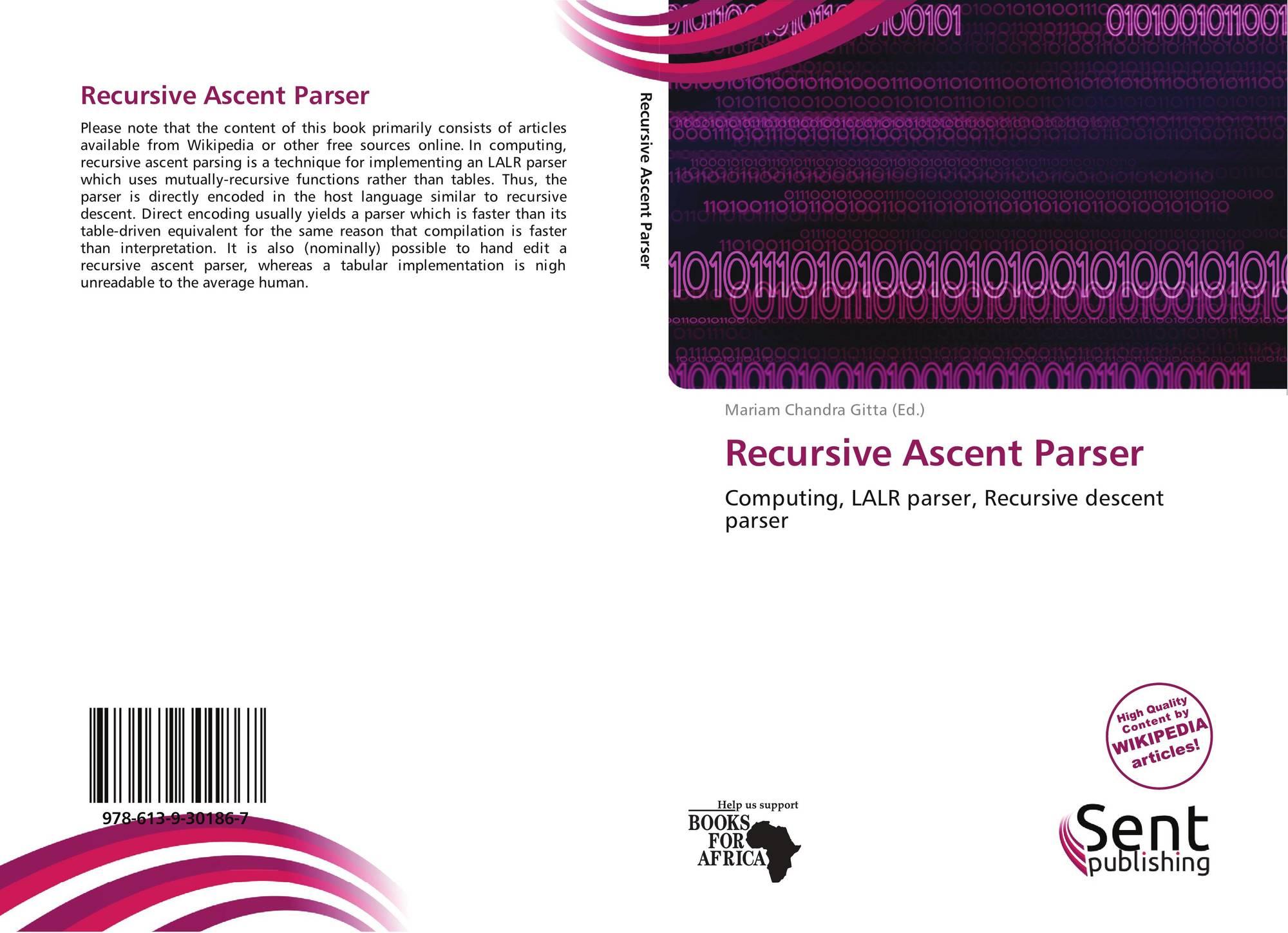 Recursive descent parser generator