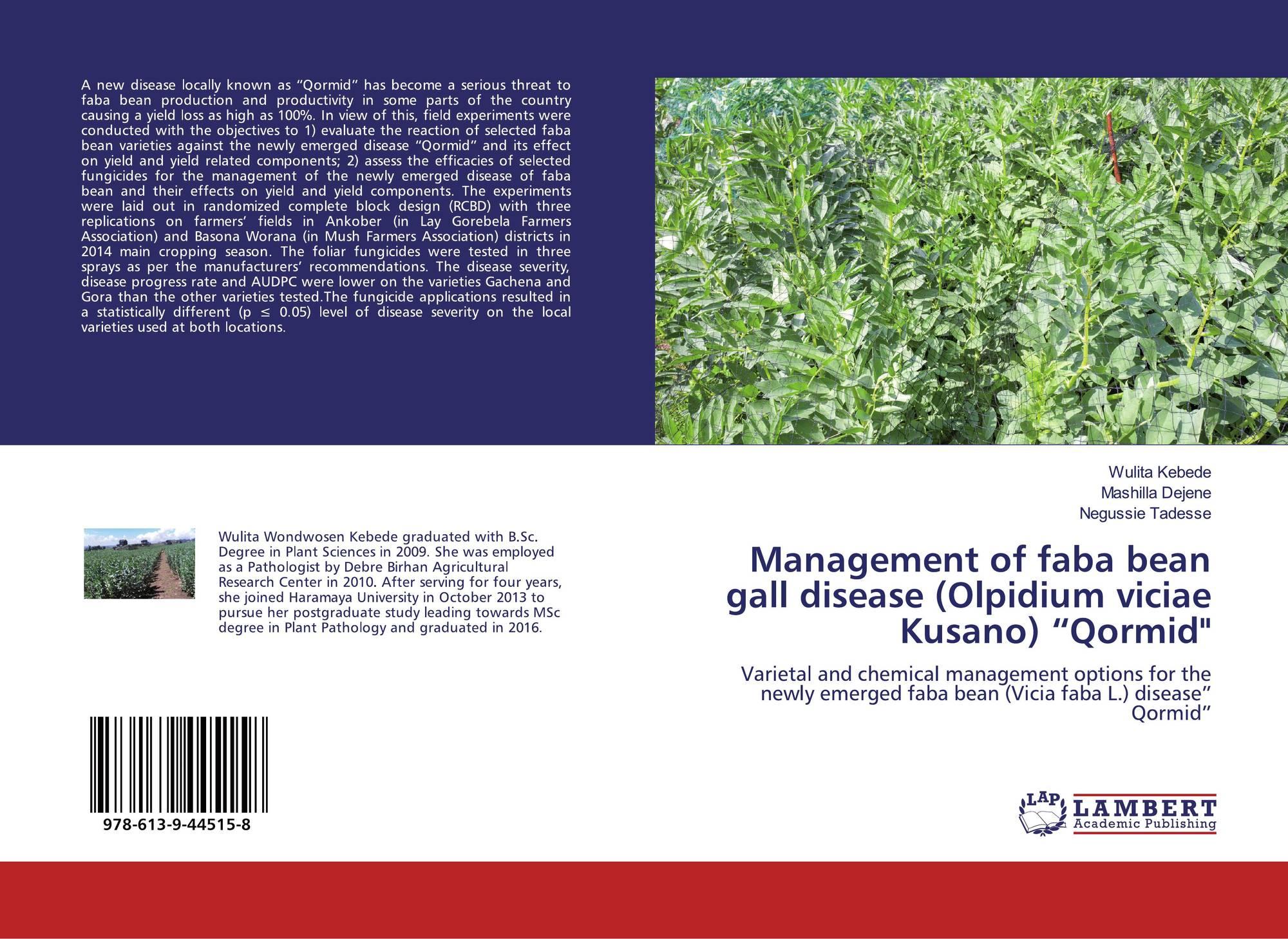 Management Of Faba Bean Gall Disease Olpidium Viciae Kusano