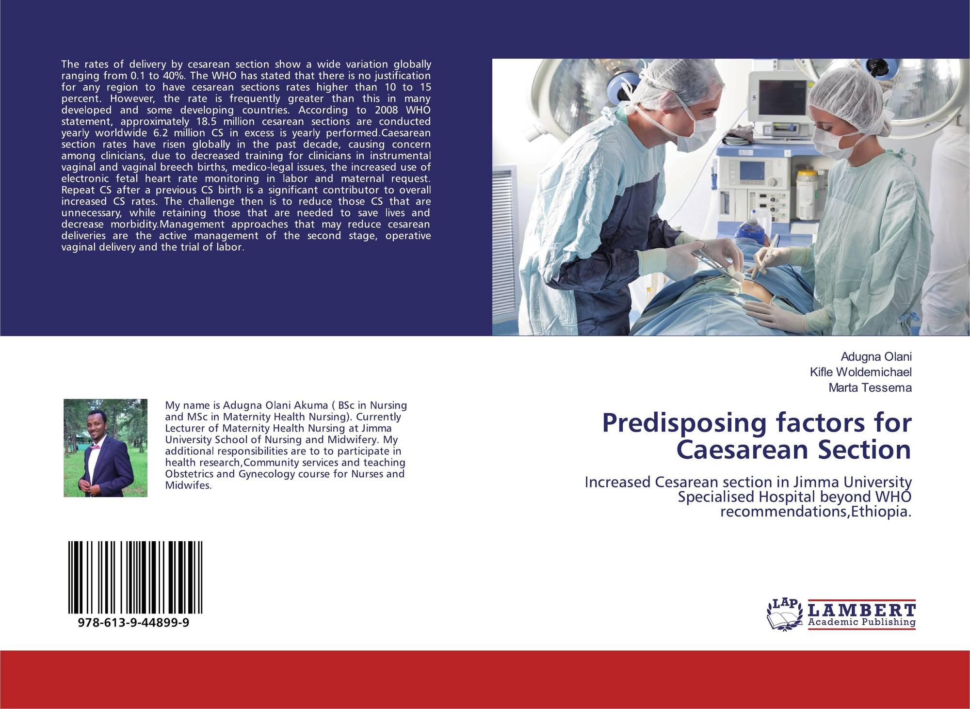 Predisposing factors for Caesarean Section, 978-613-9-44899