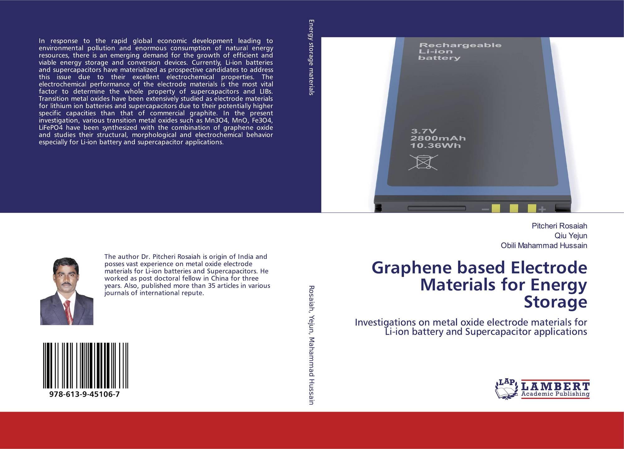 Graphene based Electrode Materials for Energy Storage, 978-613-9