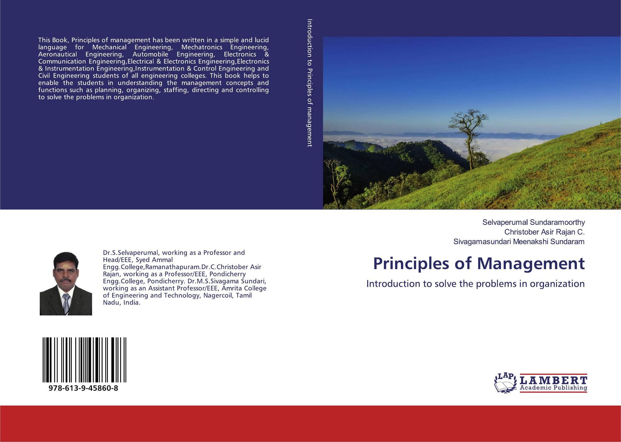 Principles of Management, 978-613-9-45860-8, 6139458609