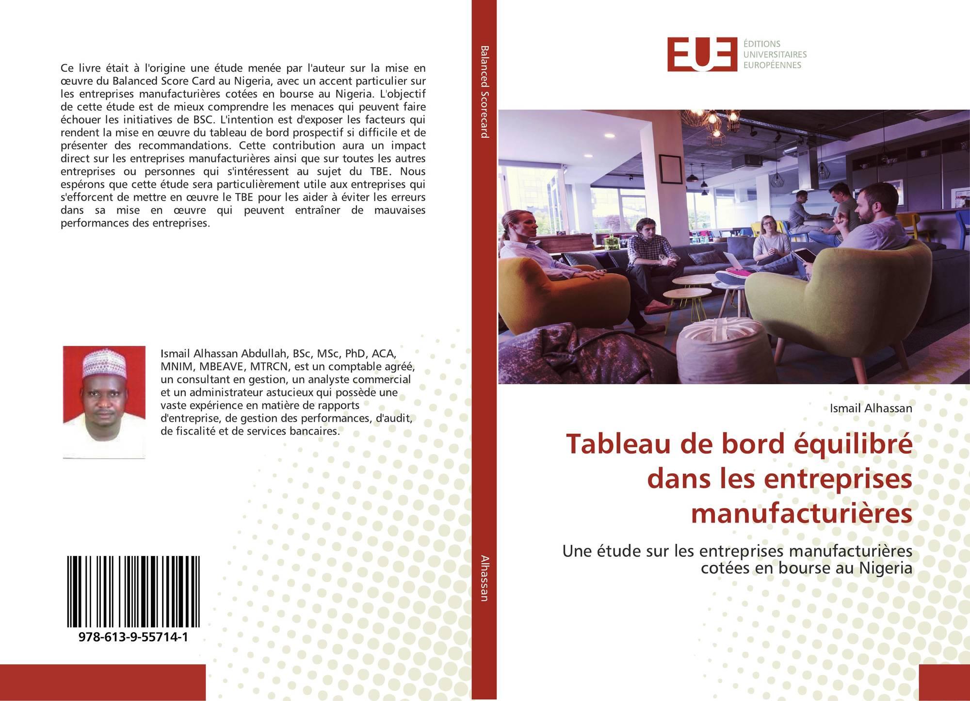 Tableau De Bord Equilibre Dans Les Entreprises Manufacturieres 978 613 9 55714 1 6139557143 9786139557141 Por Ismail Alhassan