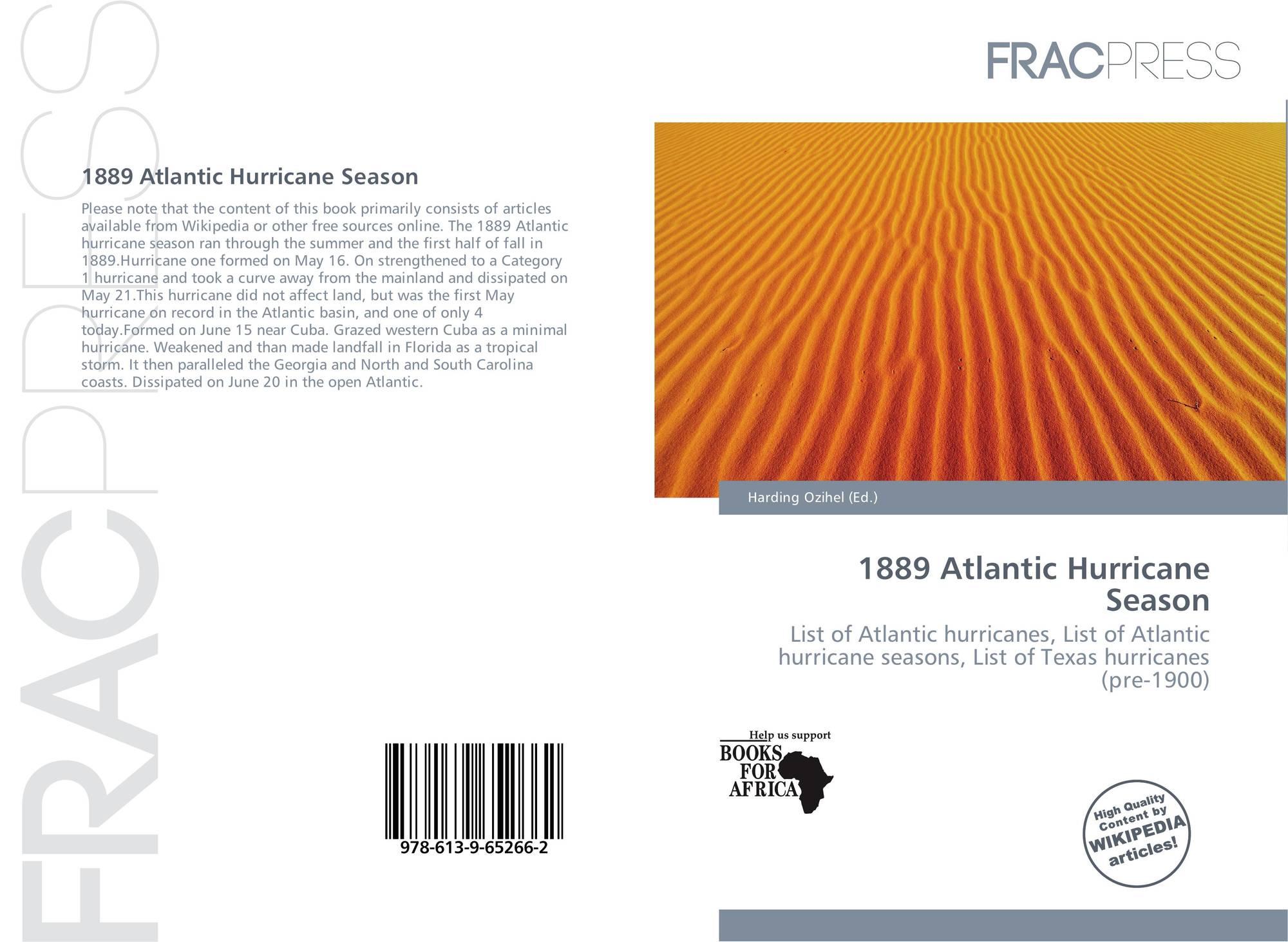 1889 Atlantic hurricane season