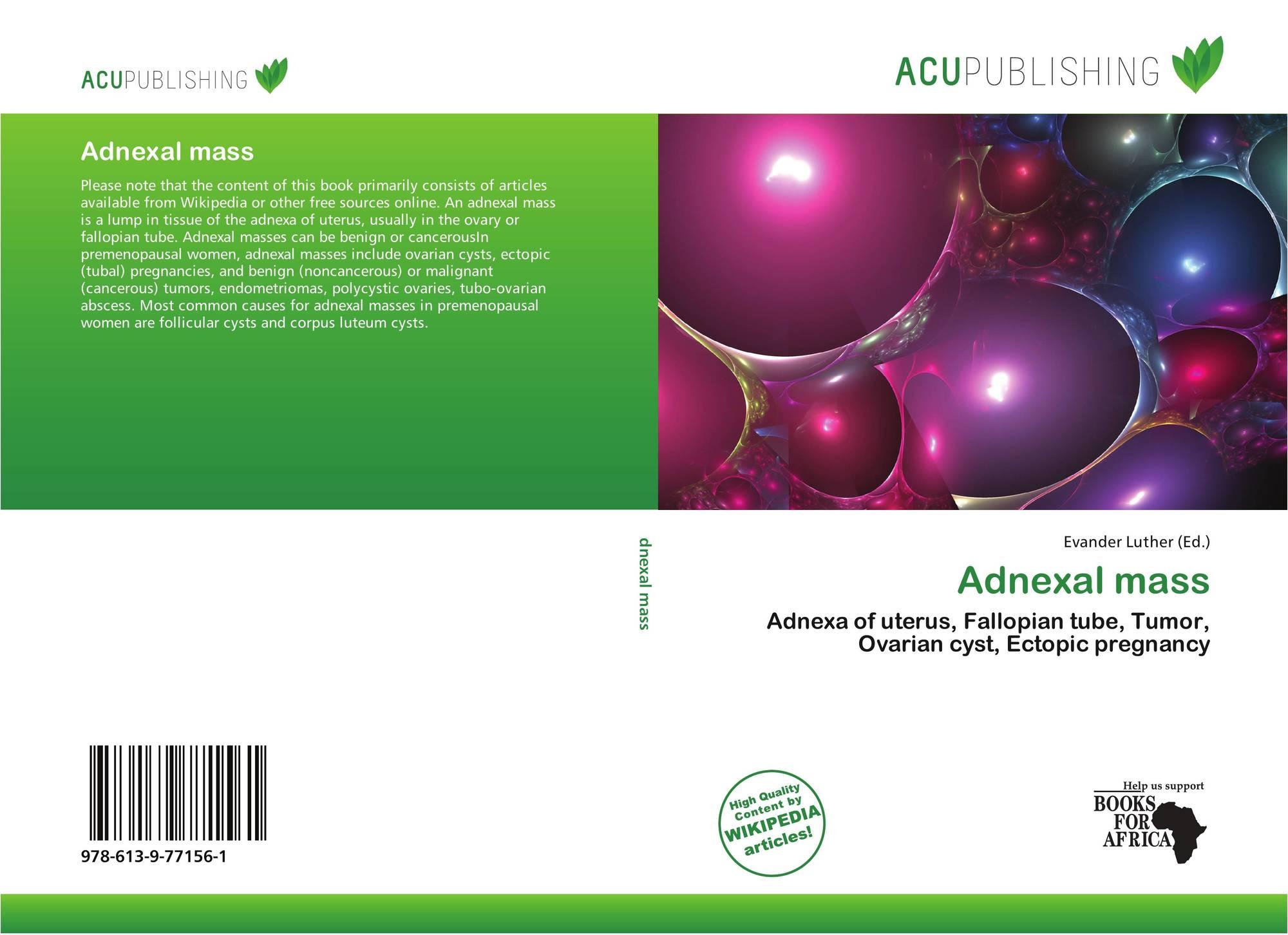 Bookcover Of Adnexal Mass