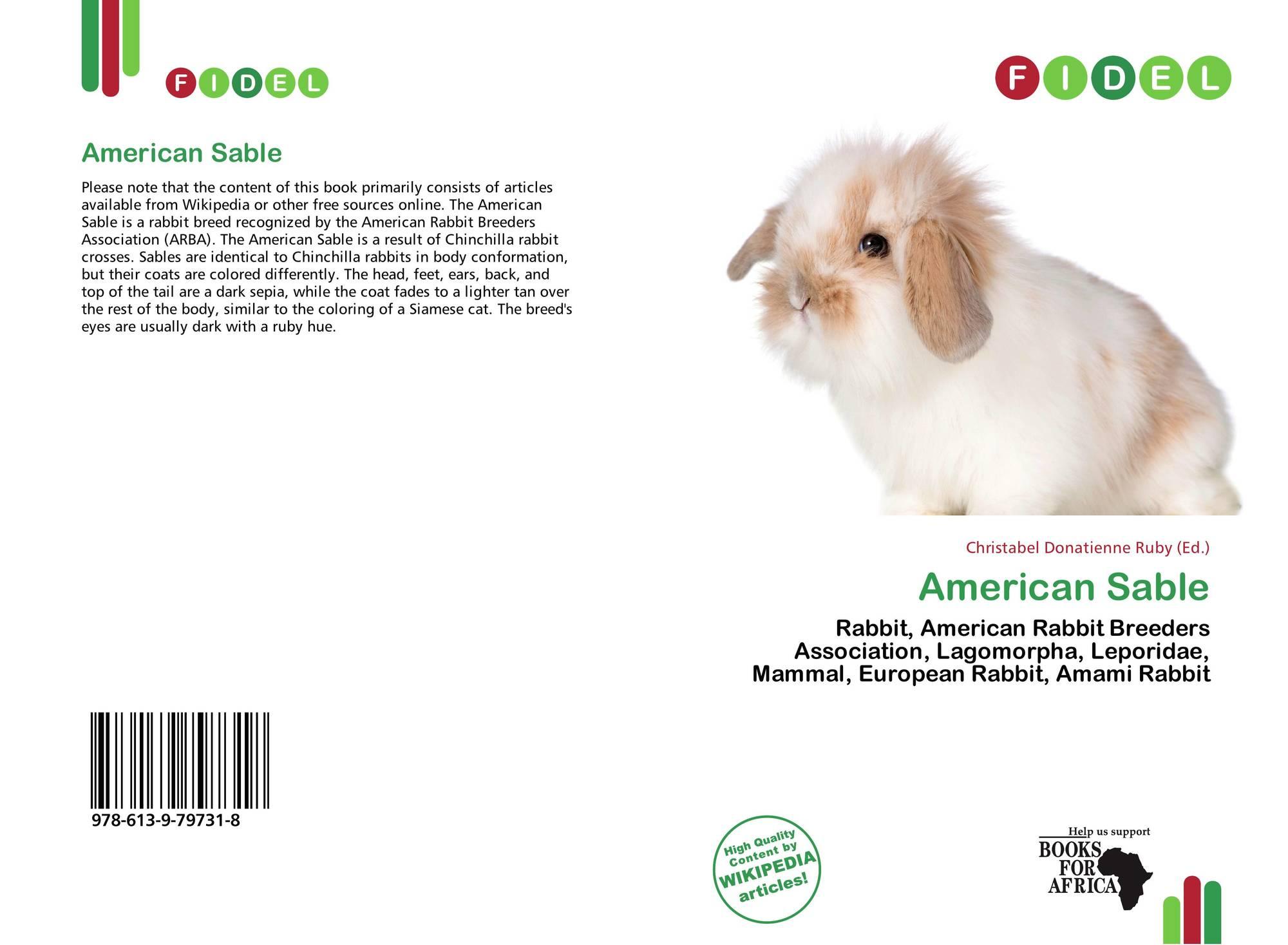 American Sable, 978-613-9-79731-8, 6139797314 ,9786139797318