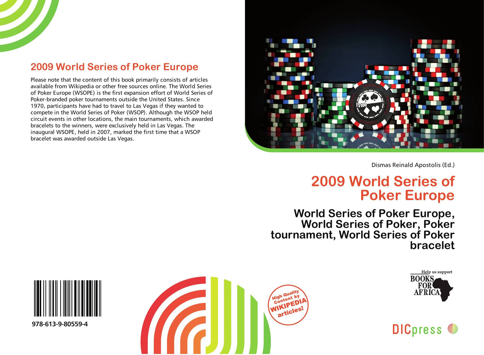 e73fbac55 Bookcover of 2009 World Series of Poker Europe. 9786139805594