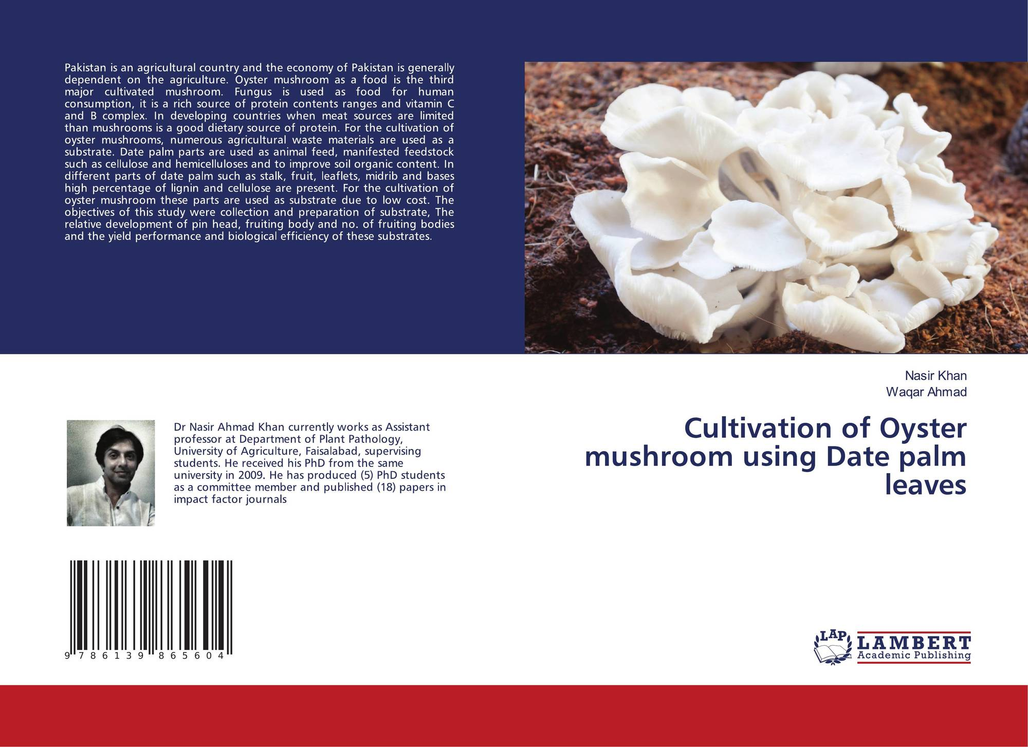 Cultivation of Oyster mushroom using Date palm leaves, 978-613-9